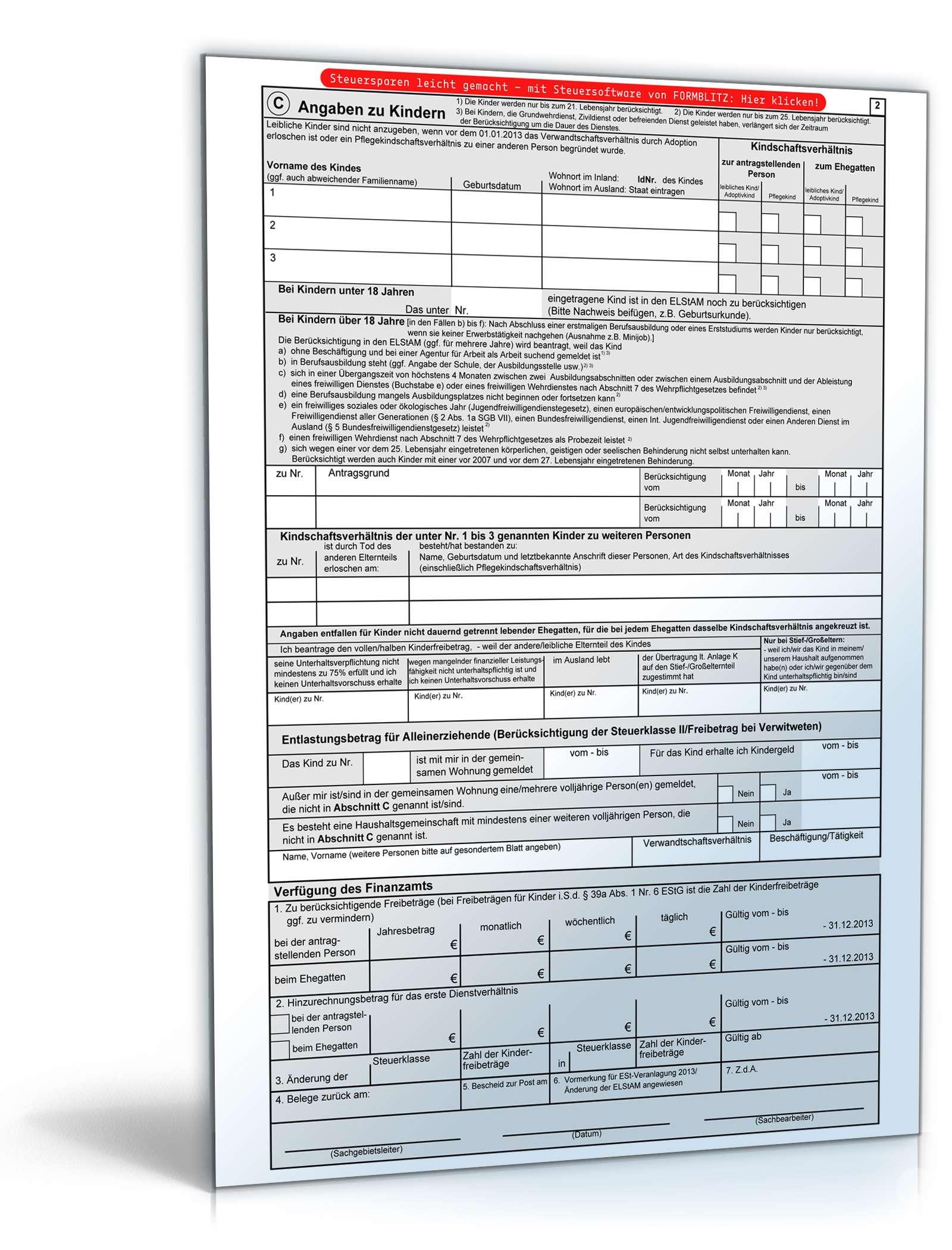 vereinfachter antrag auf lohnsteuererm igung 2013 formular zum download. Black Bedroom Furniture Sets. Home Design Ideas