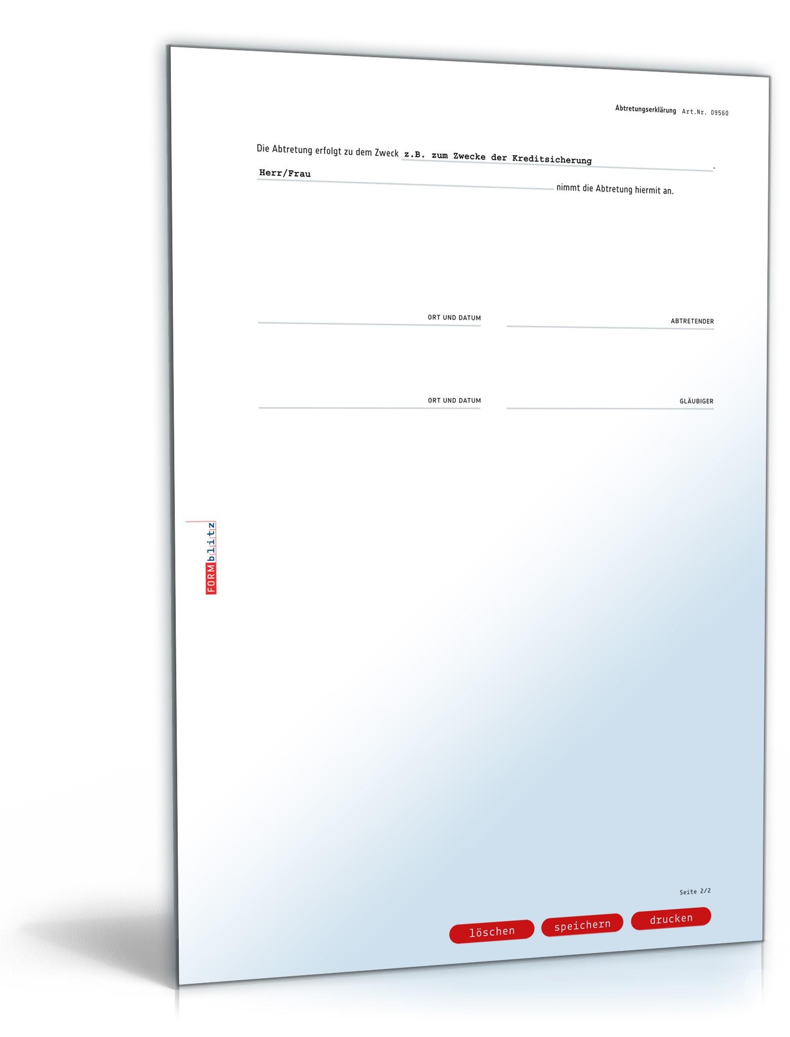 Abtretungserklärung Rechtssicheres Muster Zum Download