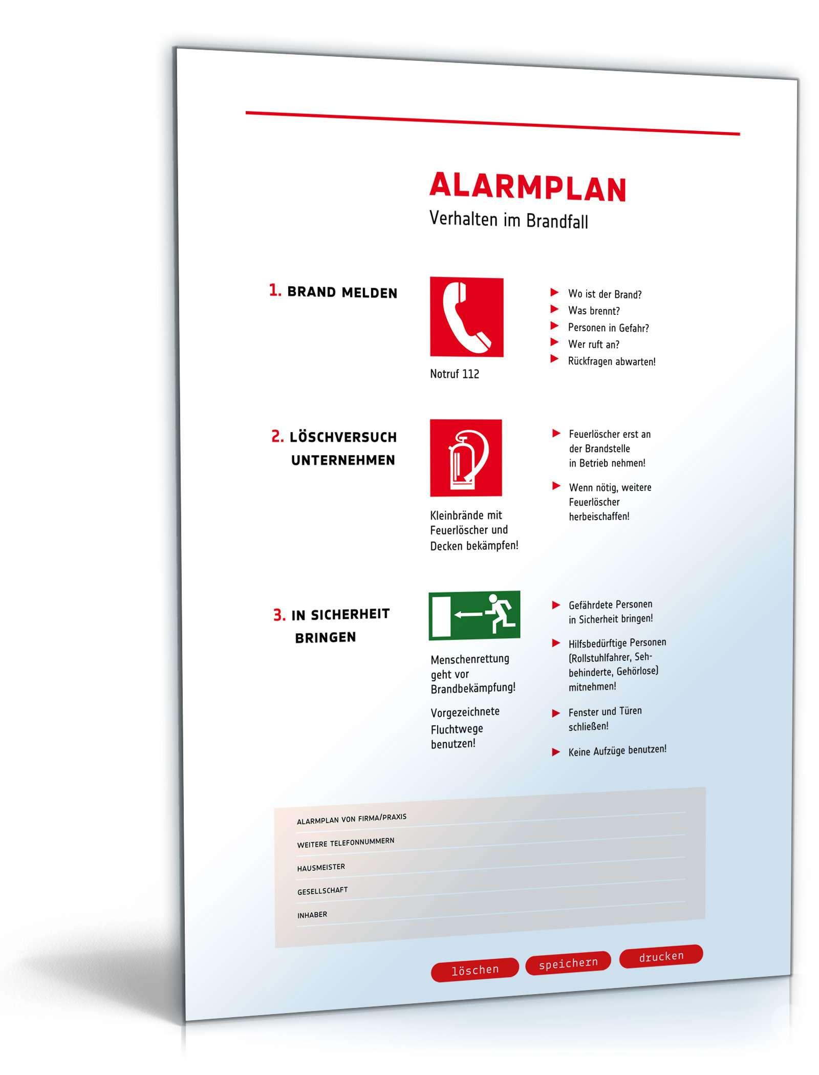 Piktogramm Alarmplan Muster Zum Download