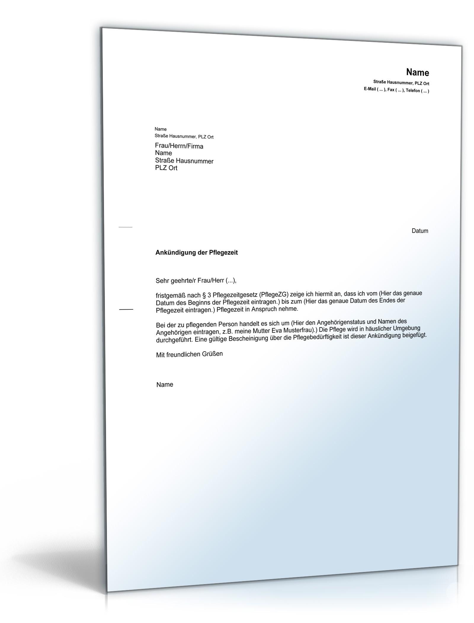 Arbeitsvertrag Ambulante Krankenpflege Vorlage Zum Download 4