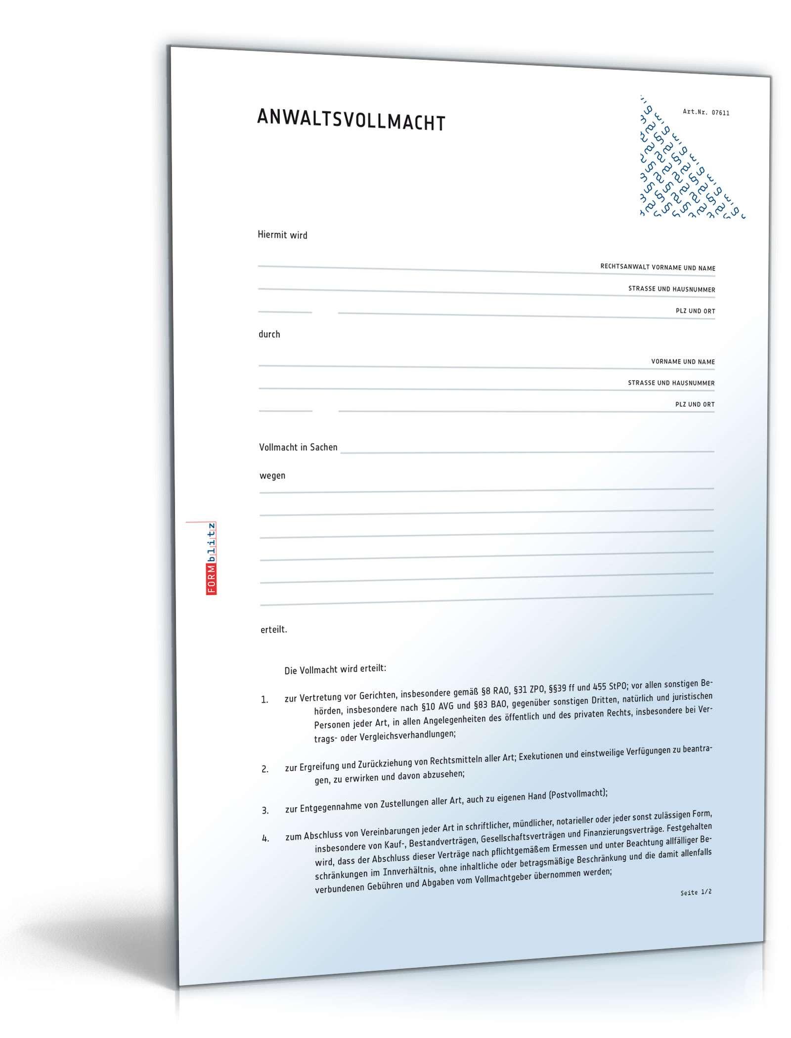 vollmacht-paket | 13 vollmachten als pdf & word zum download, Einladung