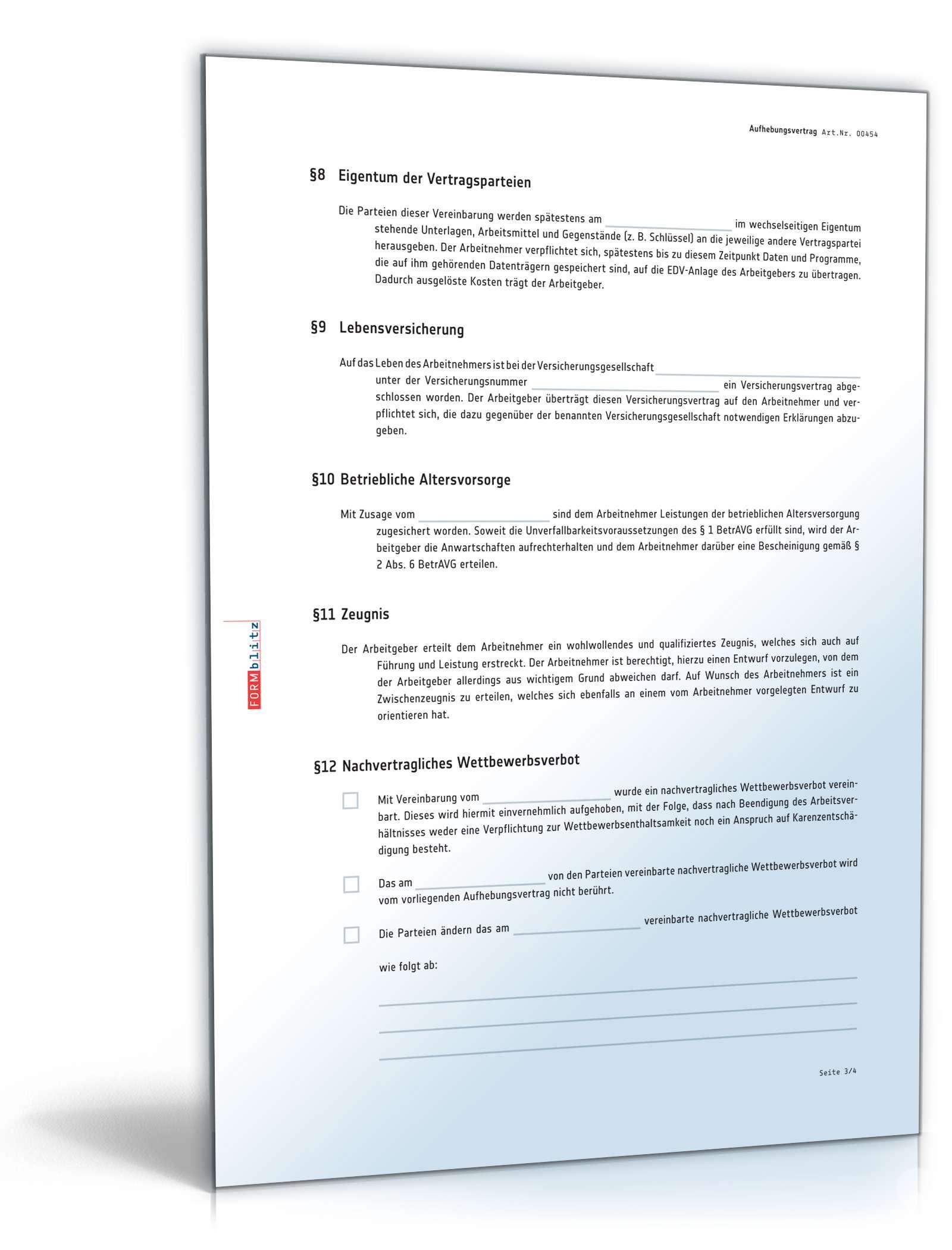 pdf seite 3 - Aufhebungsvertrag Muster