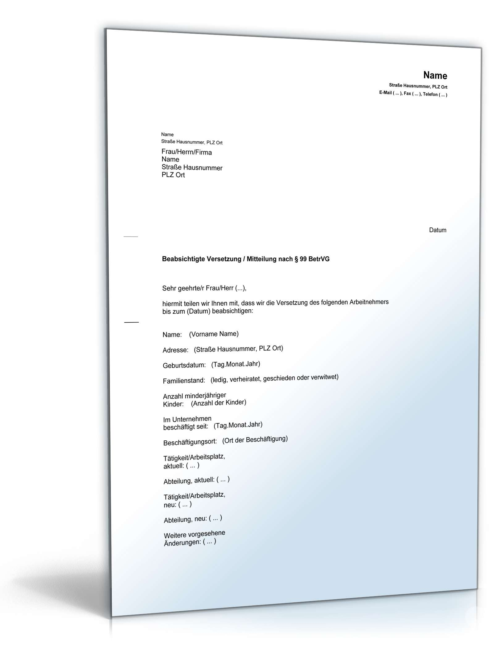 Versetzung An Anderen Arbeitsort Arbeitsrecht 2021