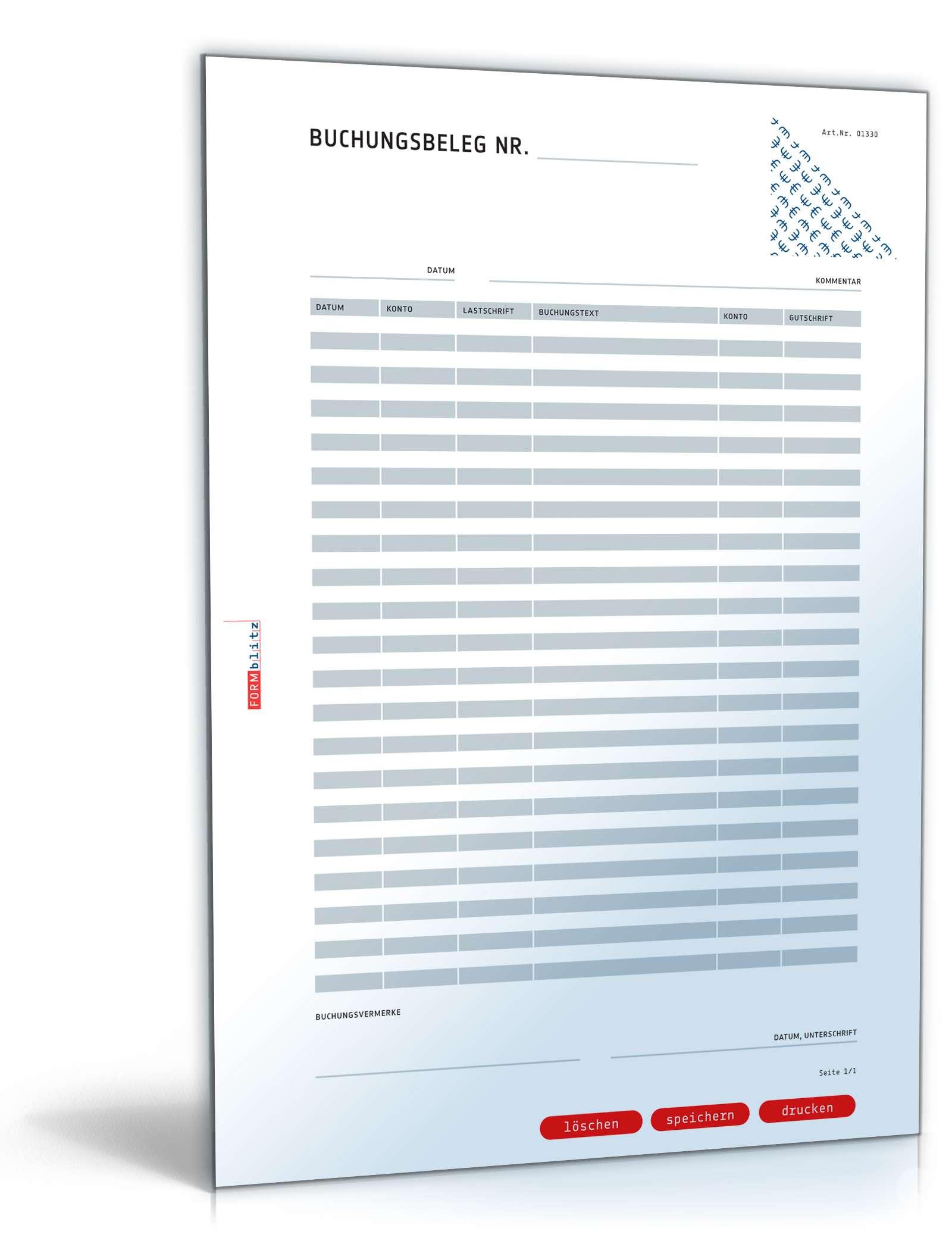 Buchungsbeleg | Muster zum Download