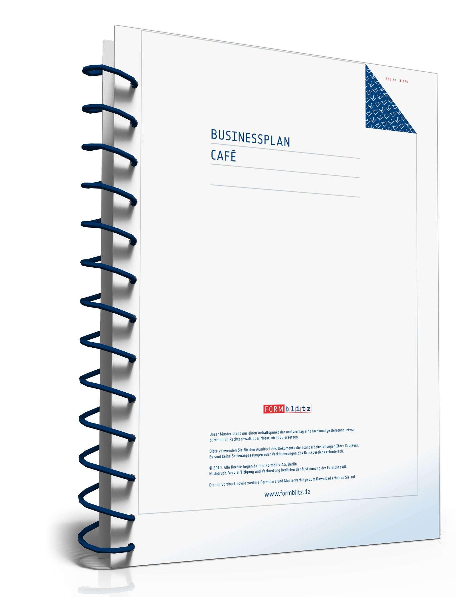 Businessplan Café: Muster aus Profihand zum Download