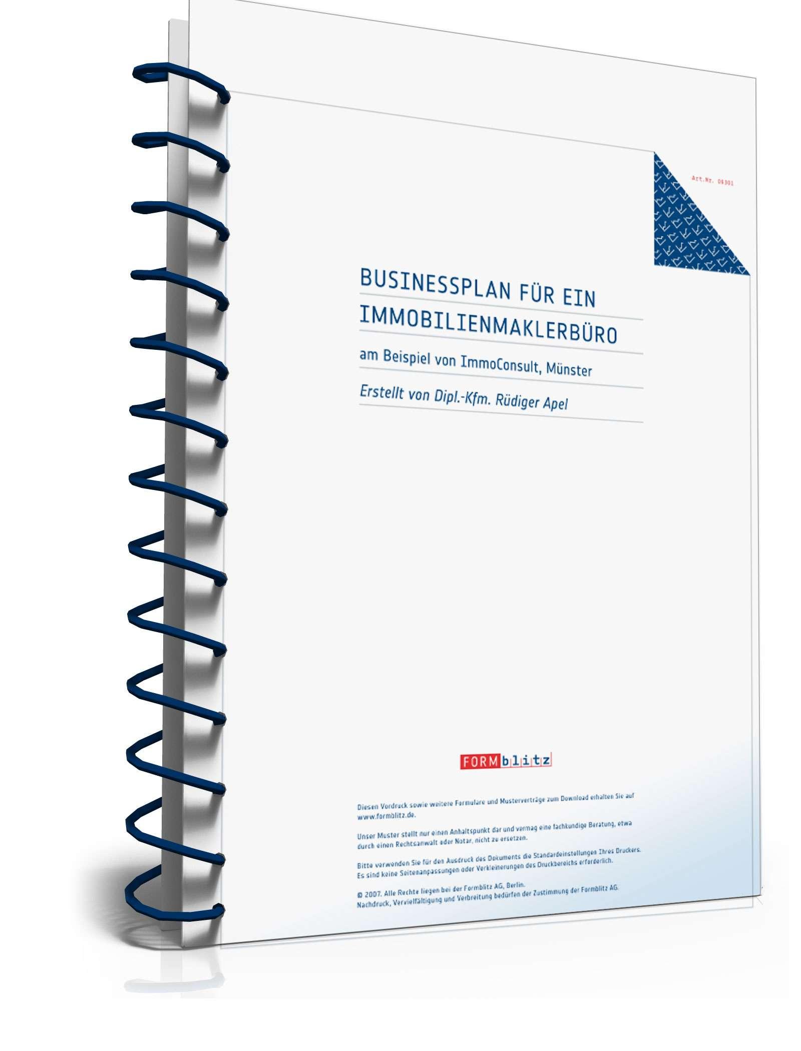 Businessplan Immobilienmakler   Muster zum Download