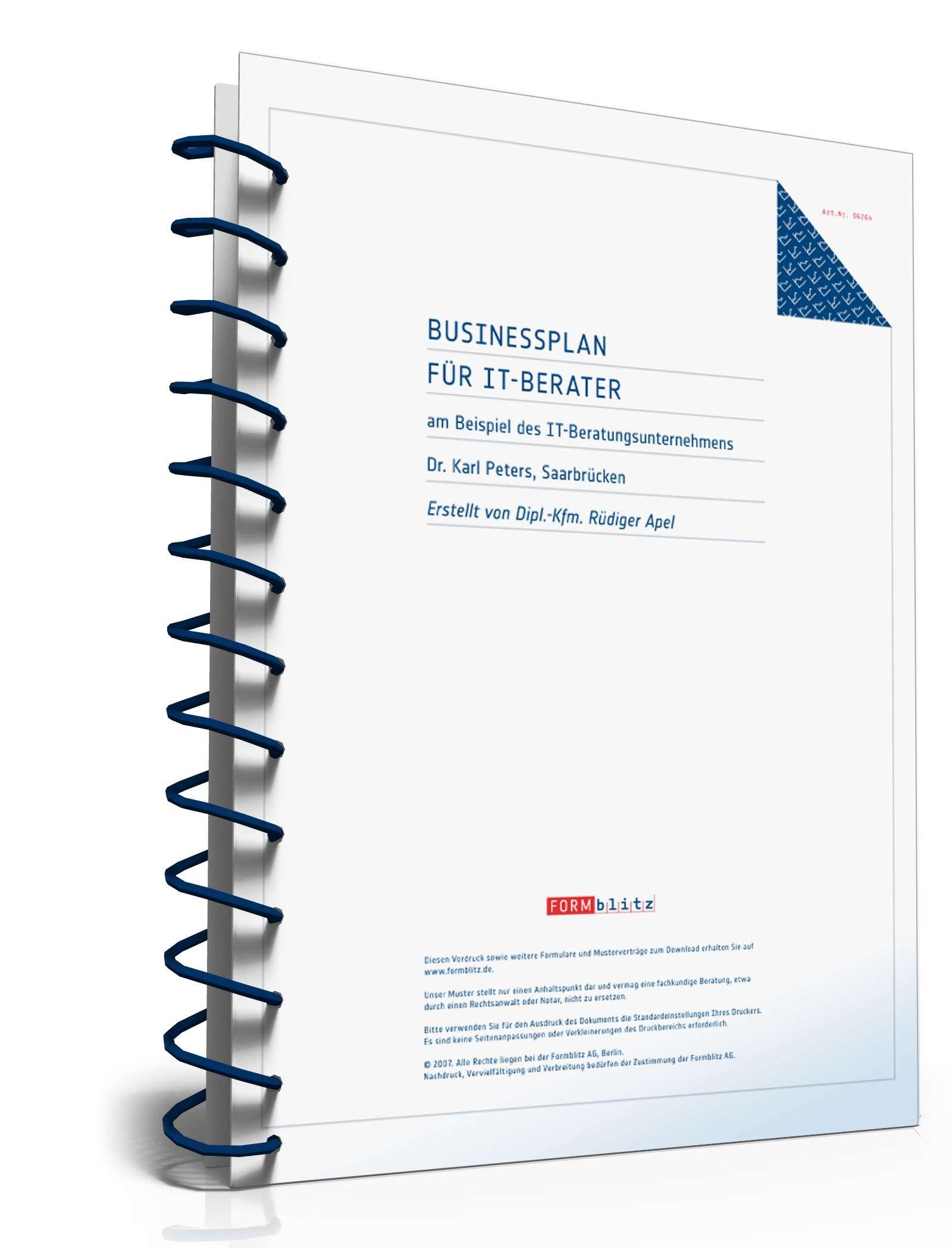 Businessplan IT-Berater | Muster zum Download