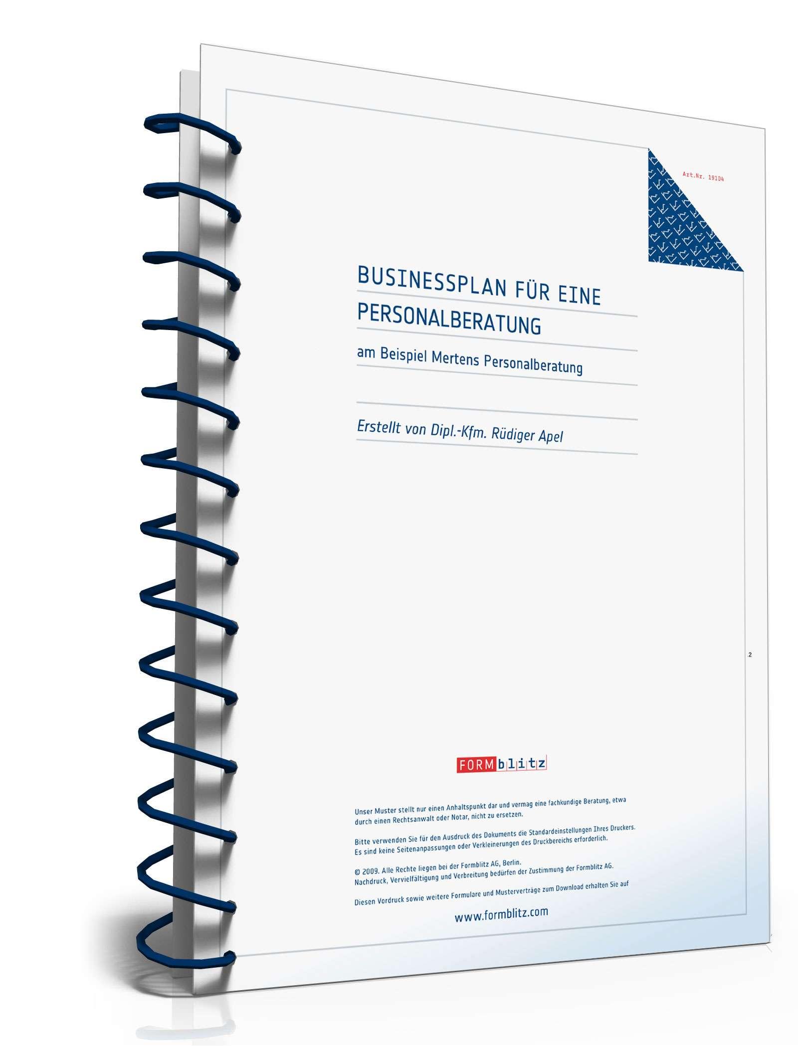 Vorlage /Muster – Businessplan für Hausmeisterservice