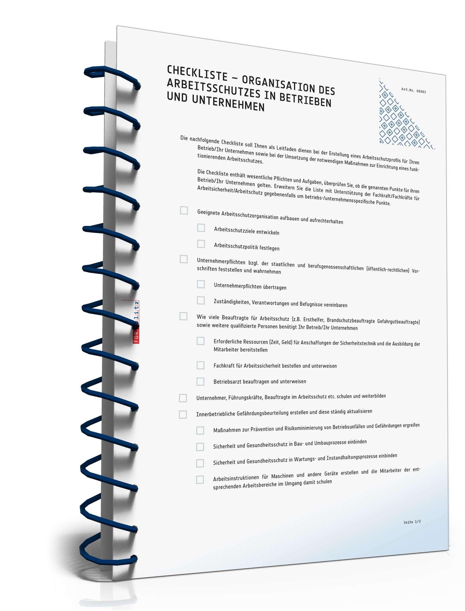 Fein Checklisten Vorlage Bereitstellen Bilder - Beispiel Business ...