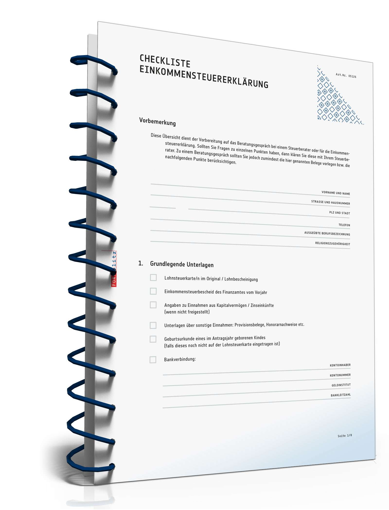 Checkliste Gespräch beim Steuerberater   Checkliste zum Download