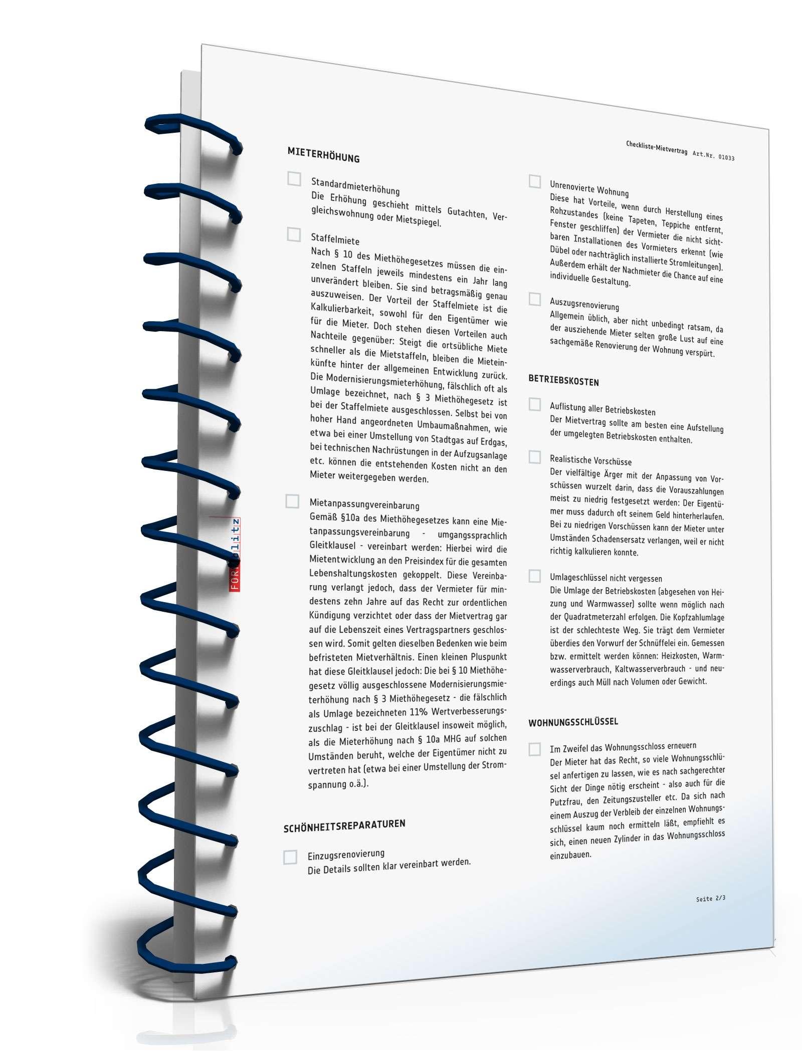 Checkliste Vermietung Vorlage Zum Download