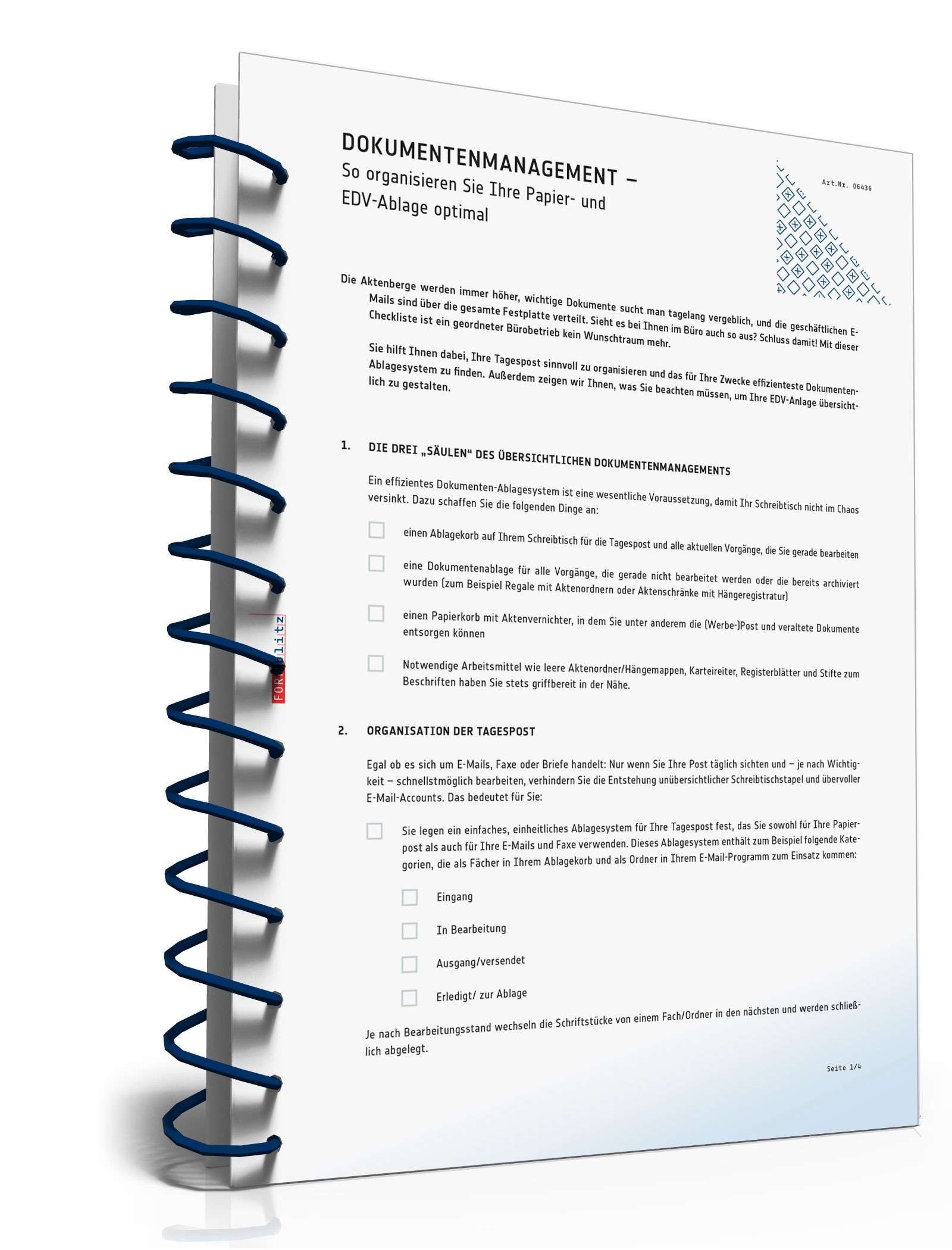 Checkliste Dokumentenmanagement Muster Zum Download