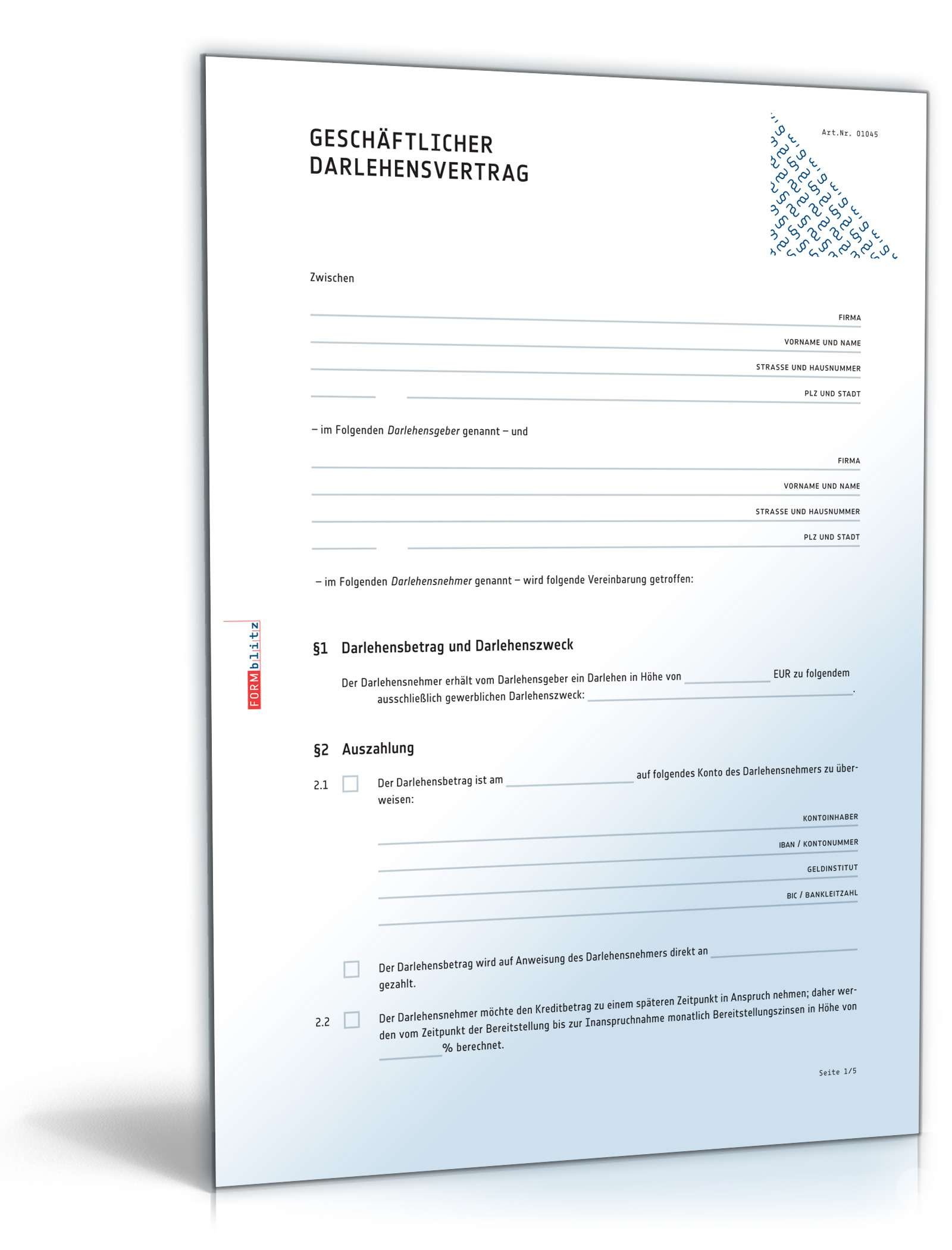 Privater Darlehensvertrag Muster Vorlage Word Pdf