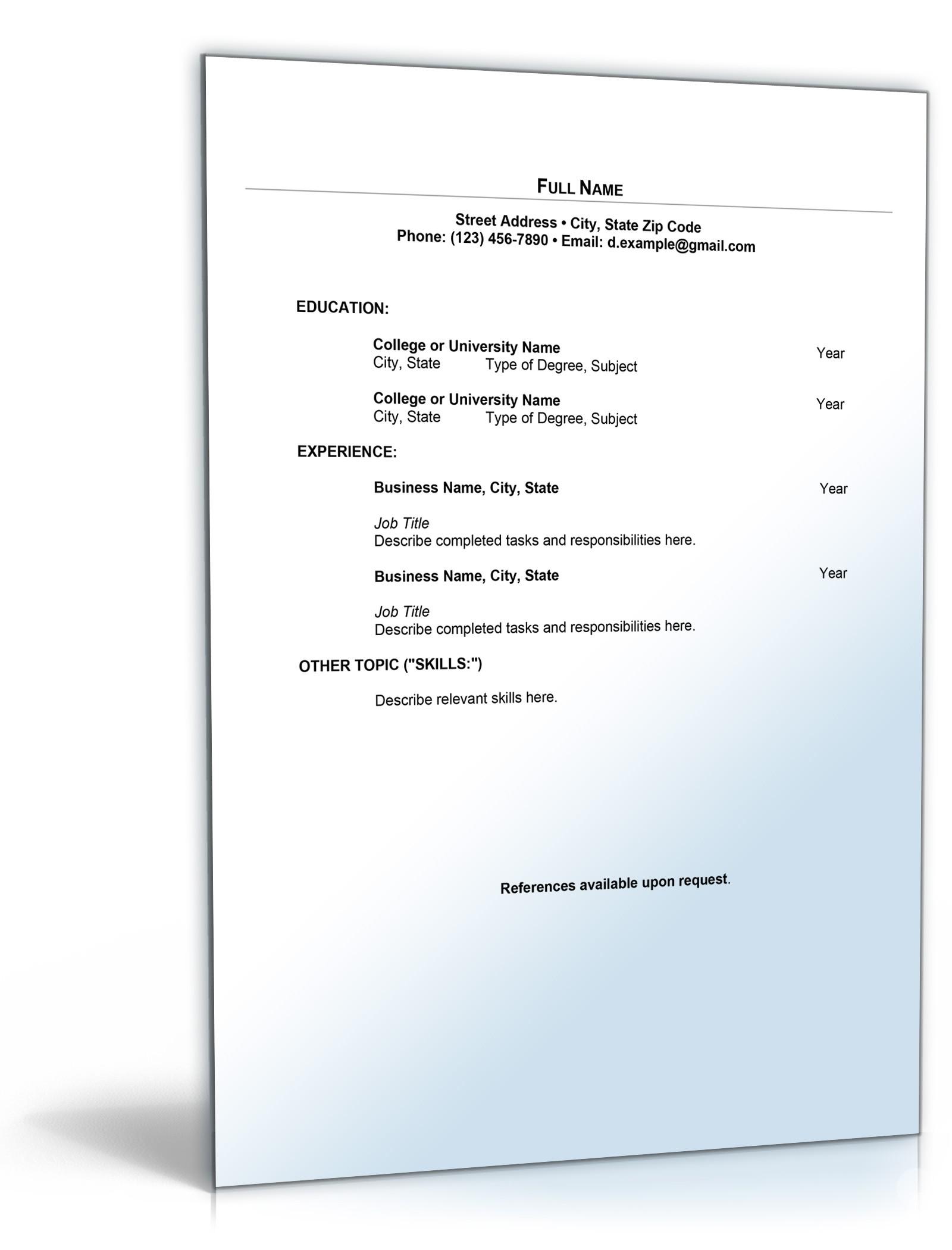 Lebenslauf Buchhaltung Englisch | Muster zum Download