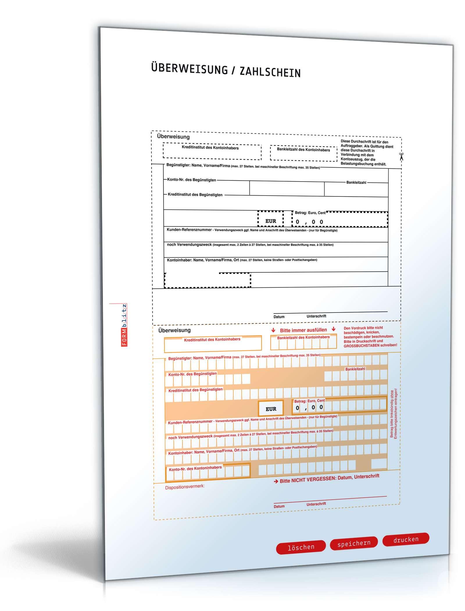 Rechnung Netto Mit überweisungsträger Formular Zum Download