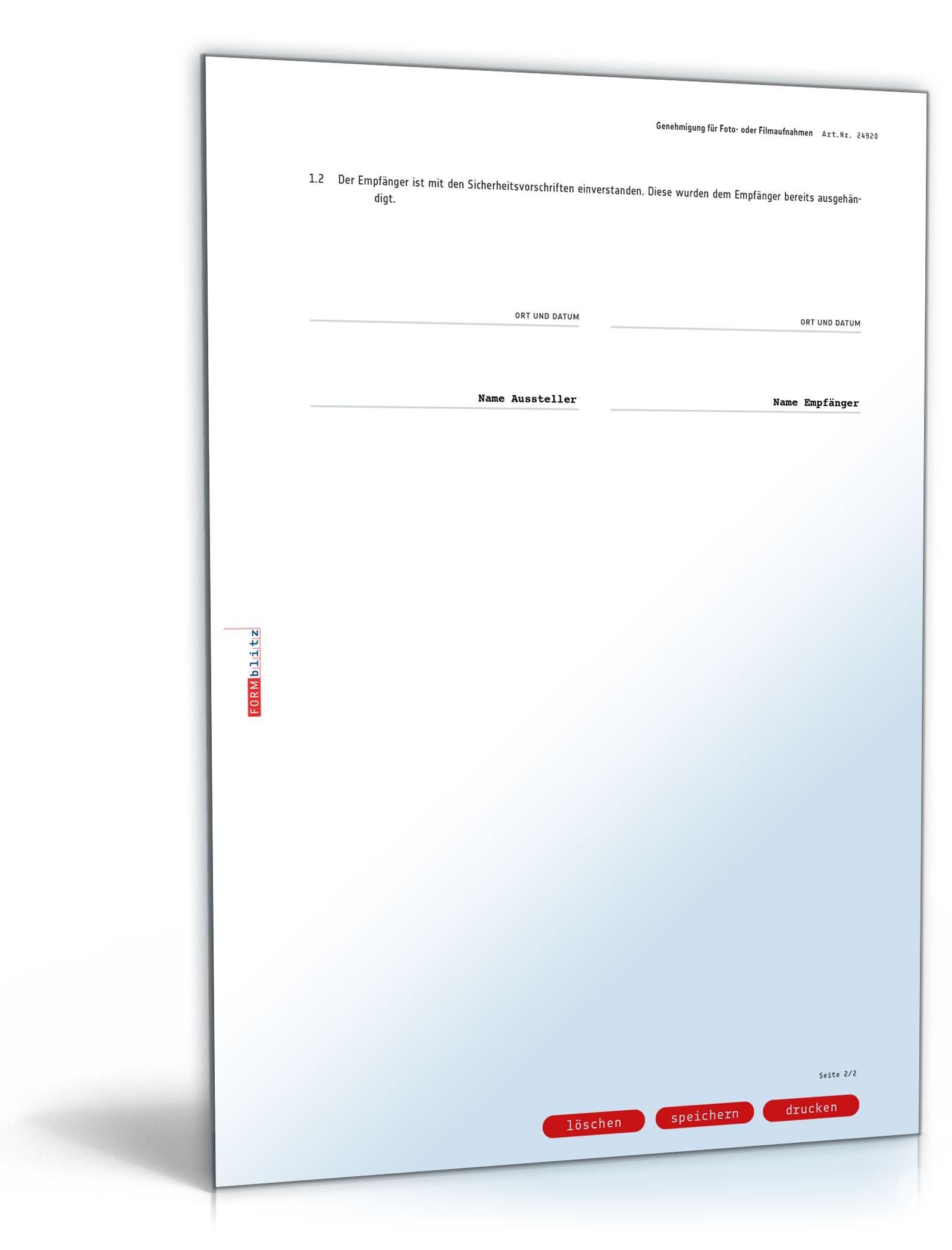 Musterbriefe Geschäftsbriefe : Genehmigung foto filmaufnahmen vorlage zum download