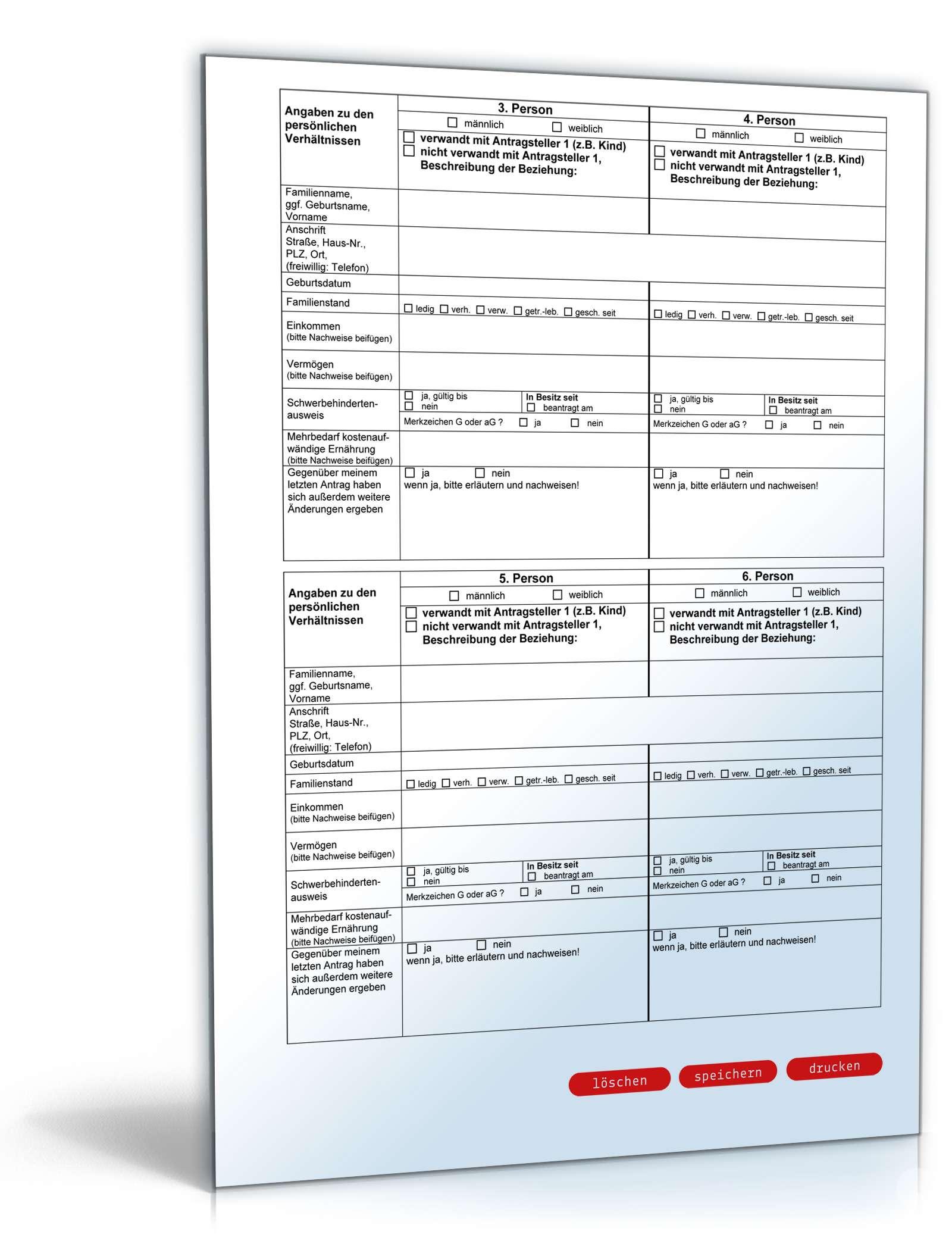 Antrag auf Fortzahlung ALG II   Formular zum Download