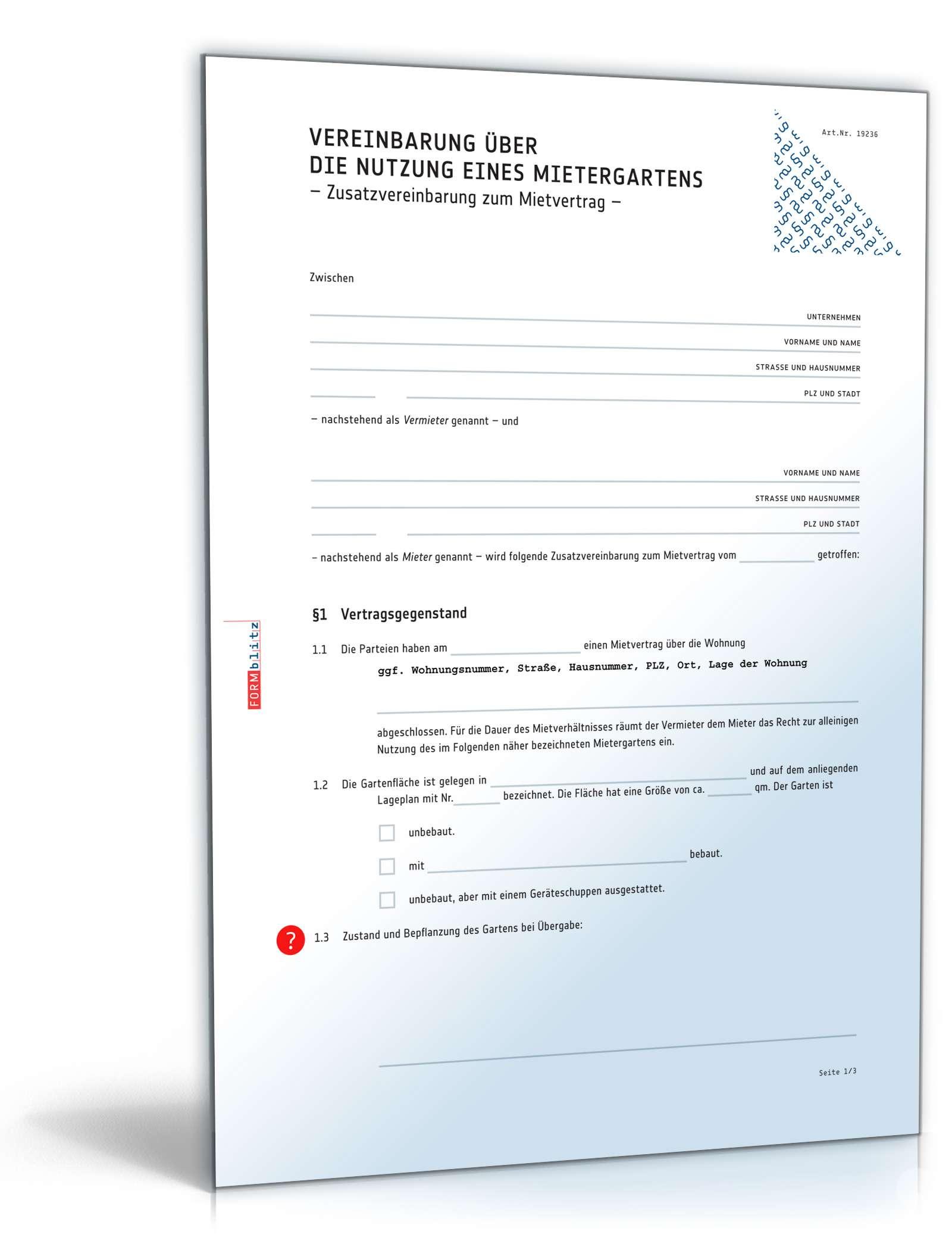 Zusatzvereinbarung Gleitzeit Vorlage Zum Download 10