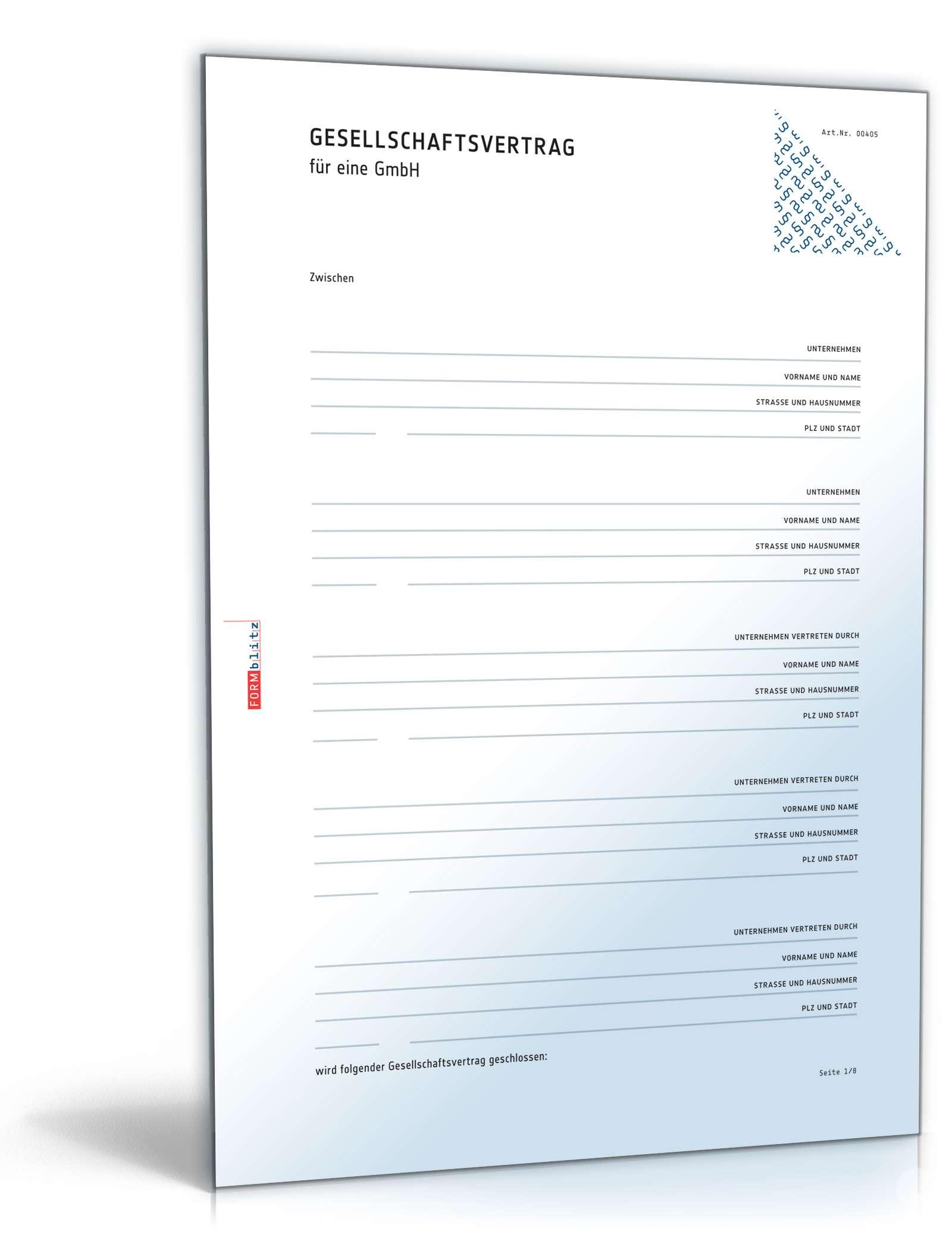 Gmbh Gesellschaftsvertrag Rechtssicheres Muster Zum Download