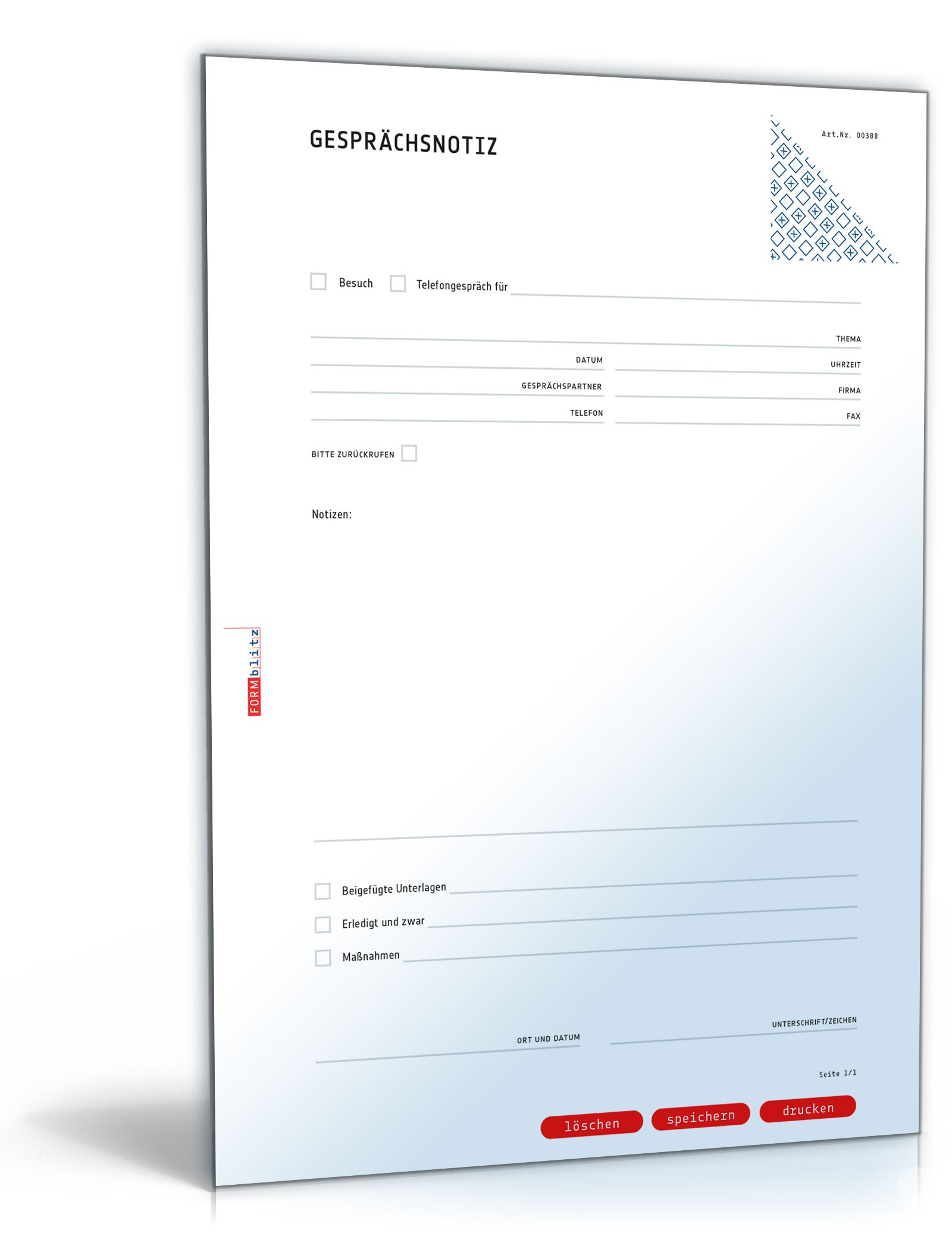 Gesprächsnotiz | Muster zum Download