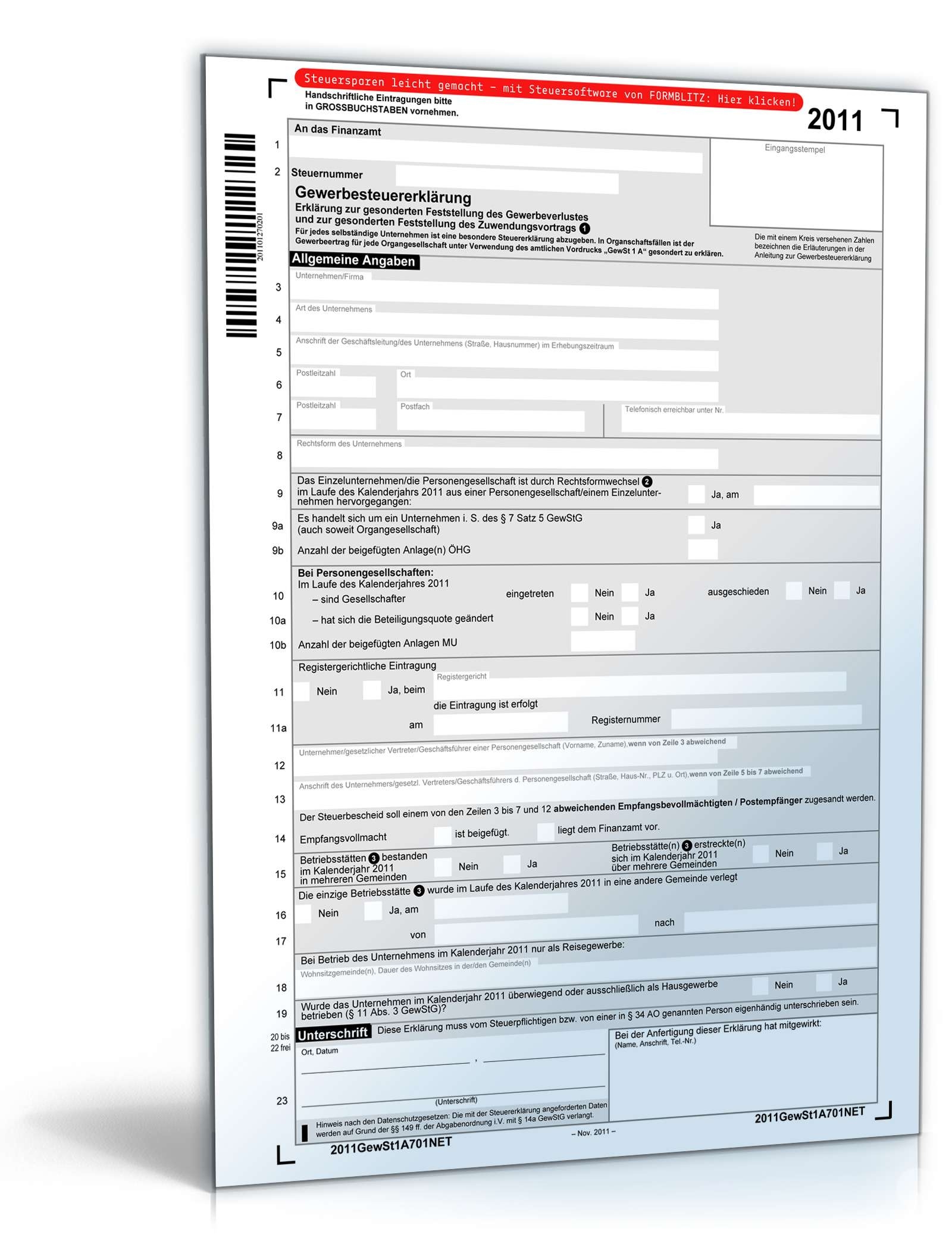 Steuerformulare 2011 Pdf