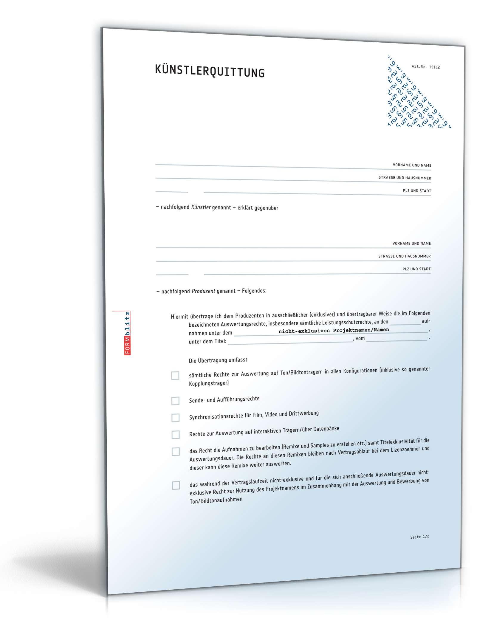 Kunstlervertrag Kunst Am Bau Pdf Kostenfreier Download 1