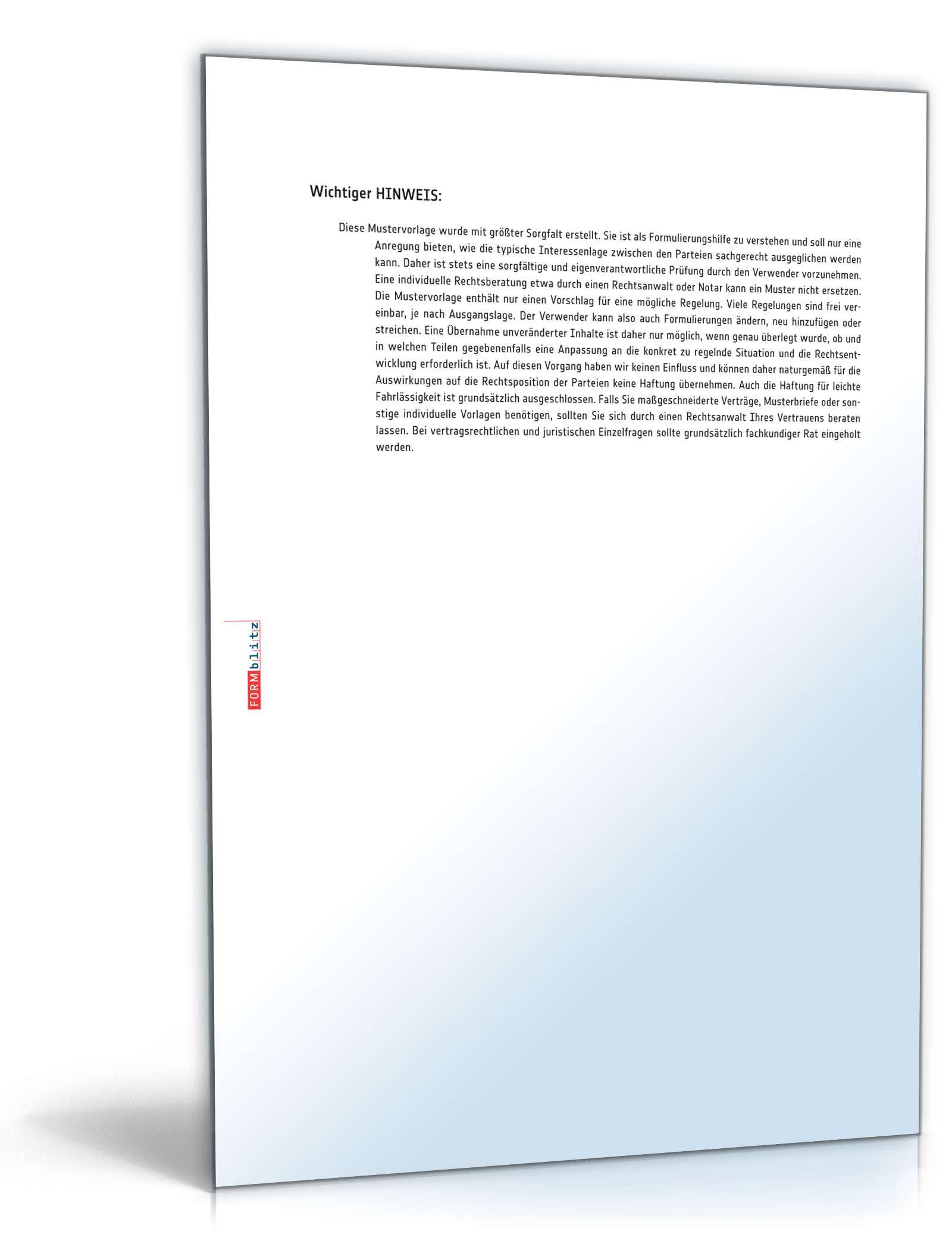 Kurzbrief Vorlage Als Pdf Und Doc Zum Download