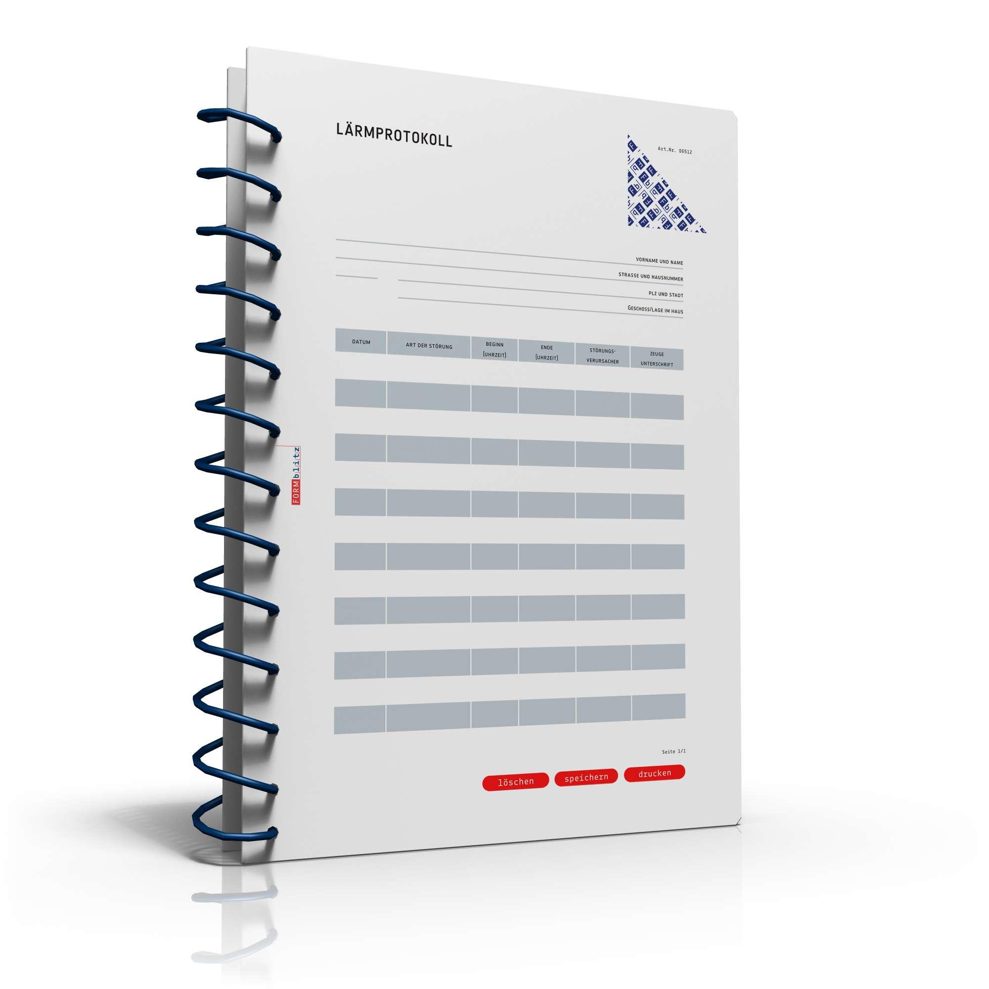 Musterbriefe Lärmbelästigung : Lärmprotokoll muster zur dokumentation von lärmbelästigung