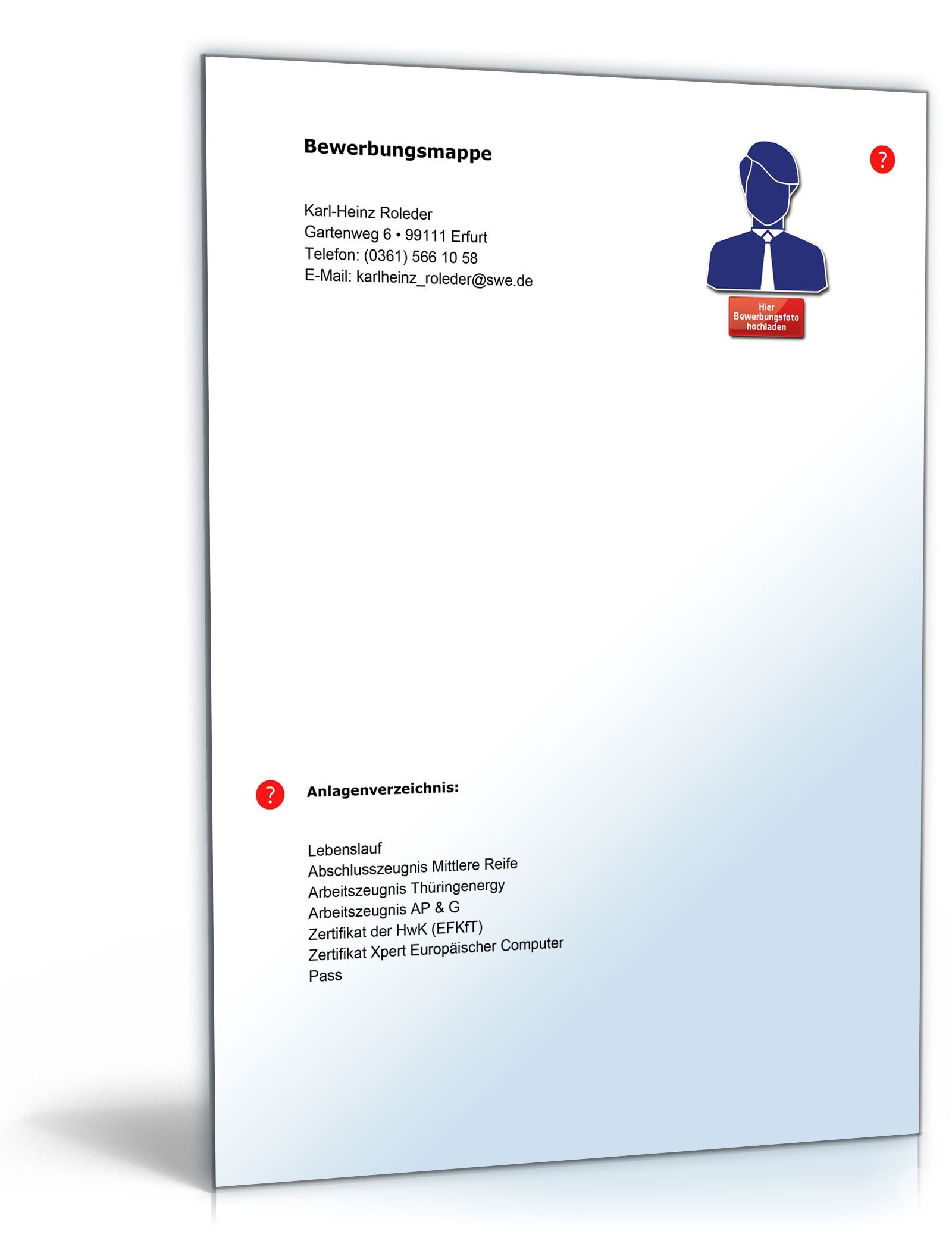 Lebenslauf Hausmeister | Muster zum Download