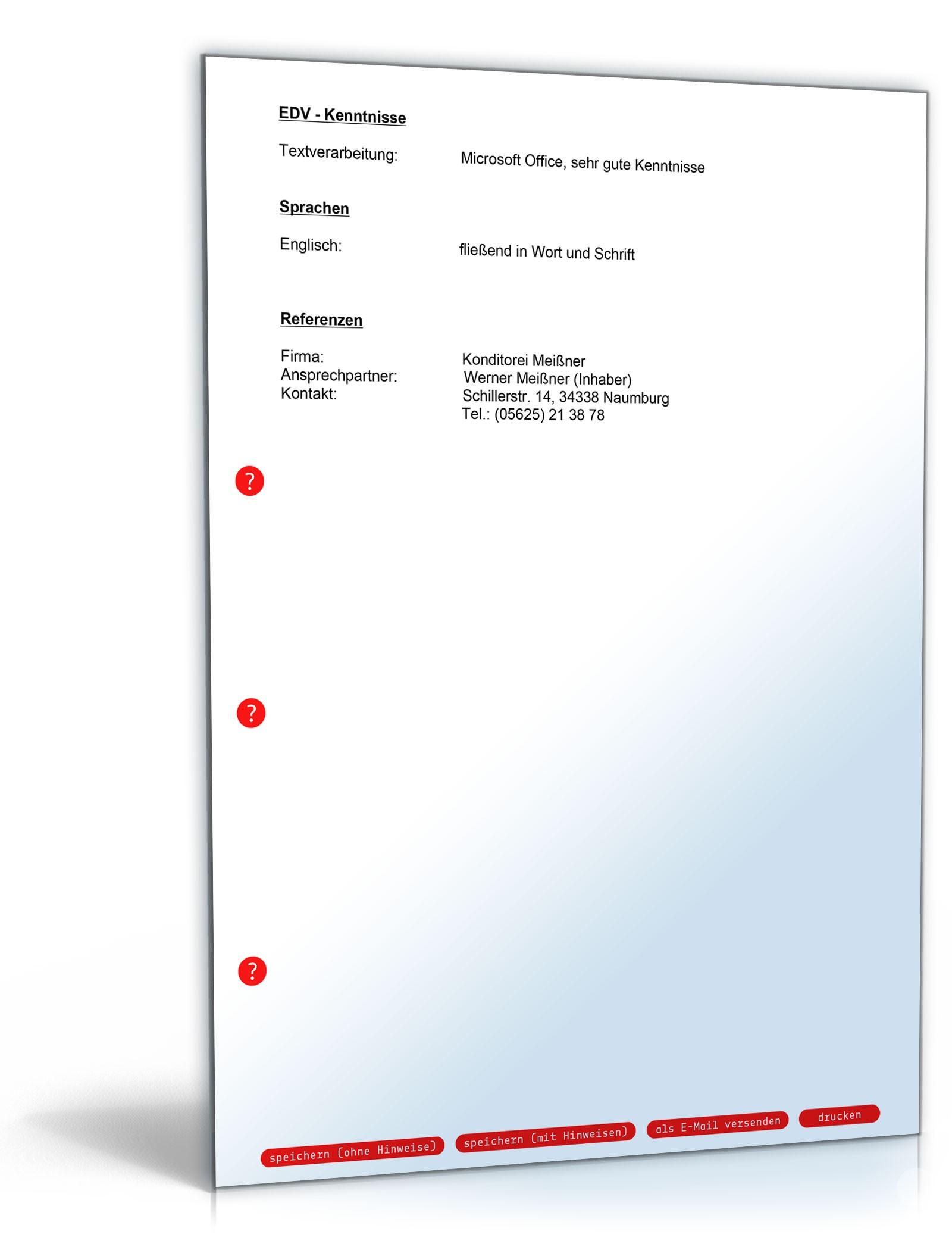 Lebenslauf Kellner | Muster zum Download
