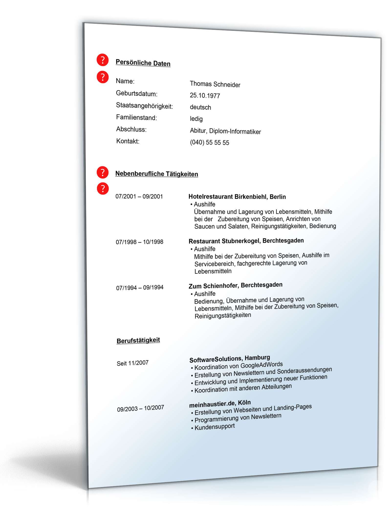 Wunderbar Fortsetzung Lebenslauf Ideen - Entry Level Resume Vorlagen ...