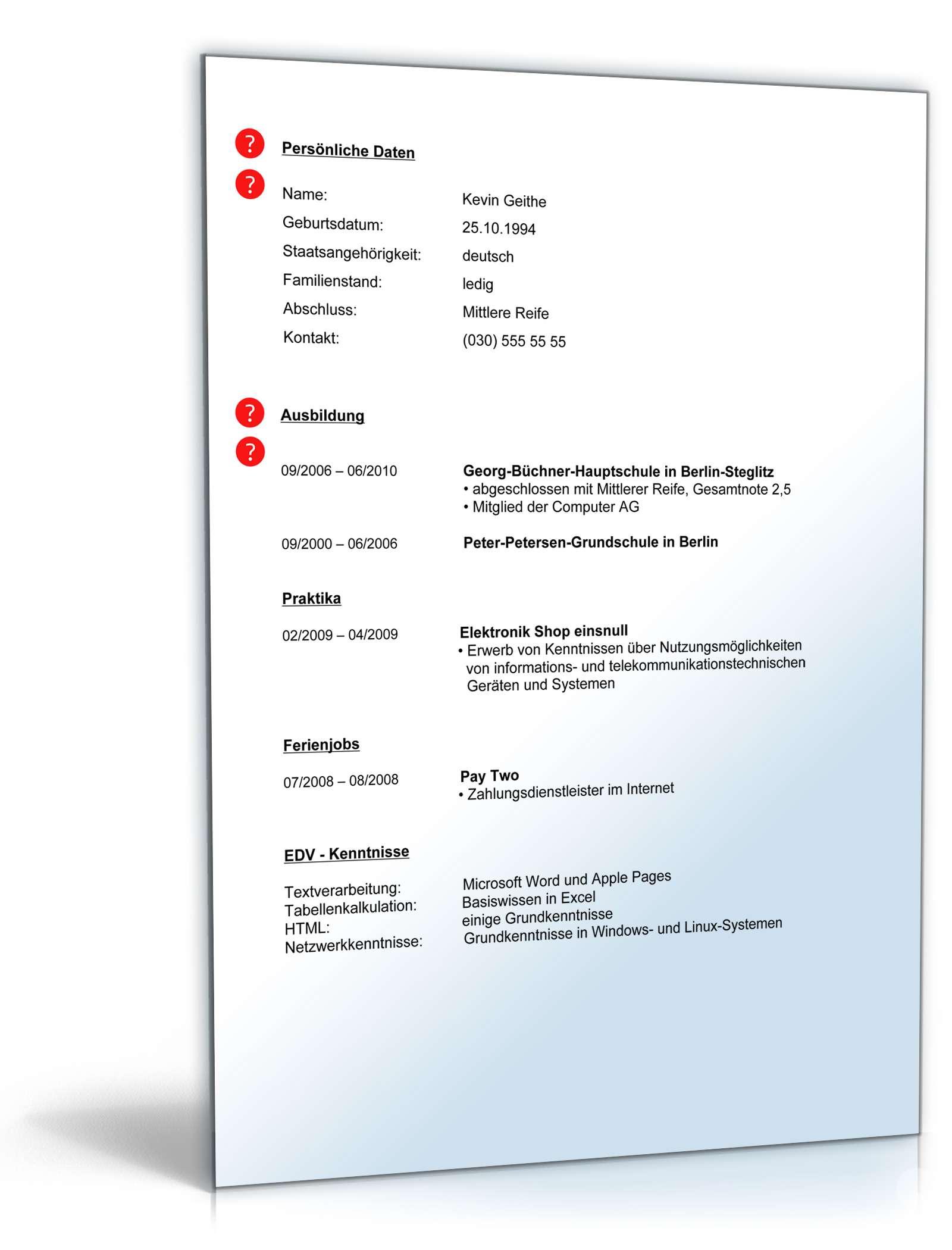 Beste Optiker Lebenslauf Bilder - Entry Level Resume Vorlagen ...