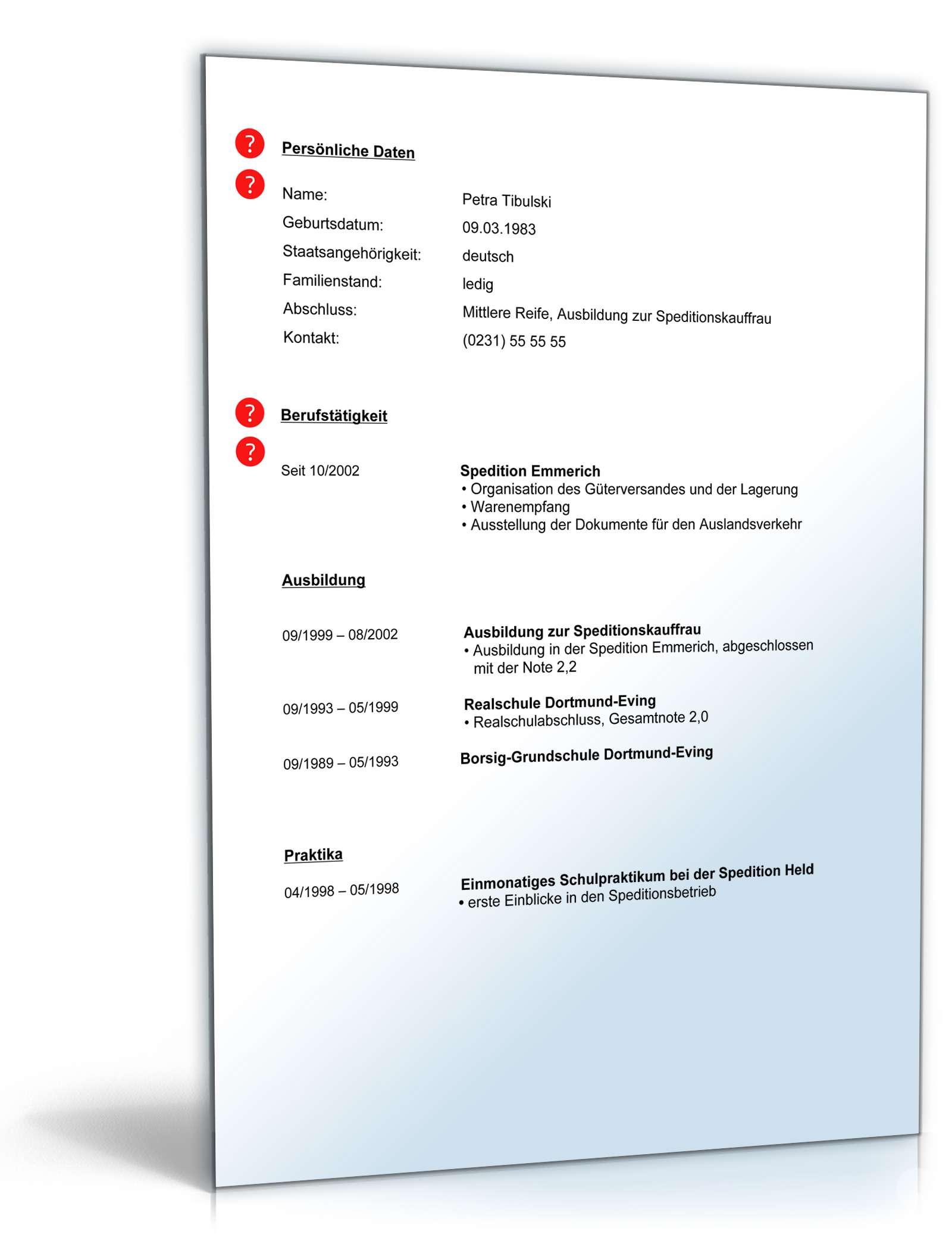 Tolle Speditions Lebenslauf Zeitgenössisch - Entry Level Resume ...