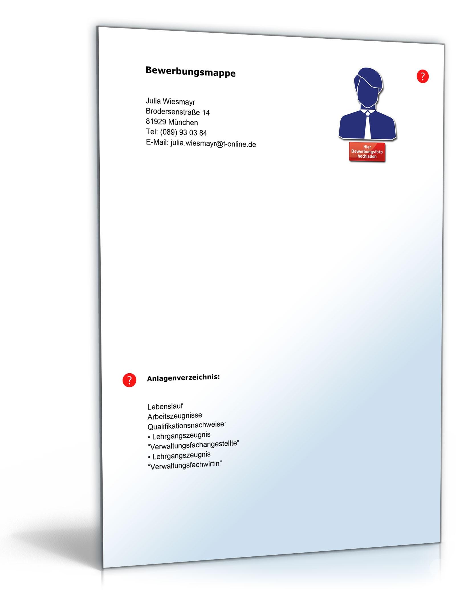 Lebenslauf Verwaltungsfachangestellter | Muster zum Download