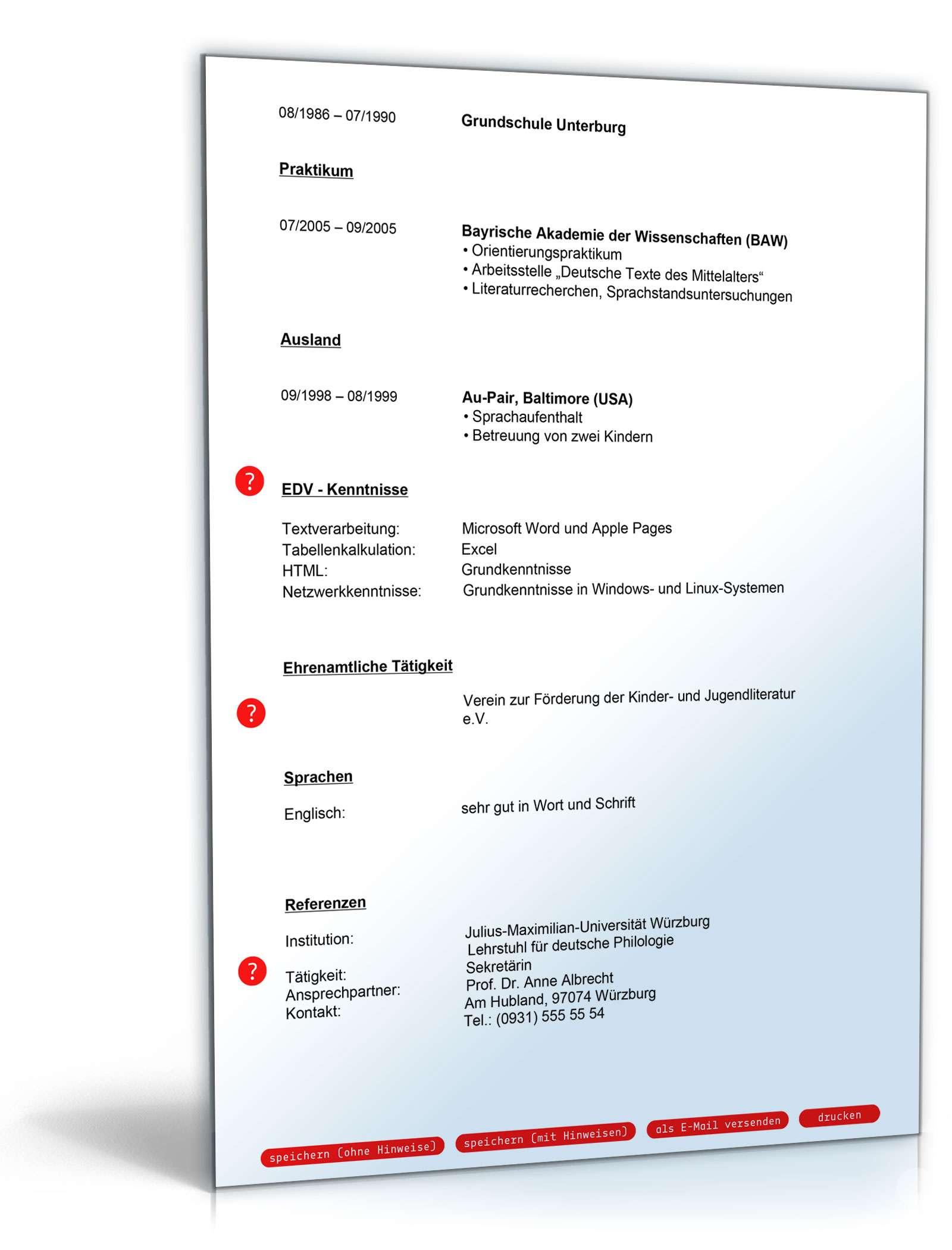 Lebenslauf beruflicher Wiedereinstieg | Muster zum Download