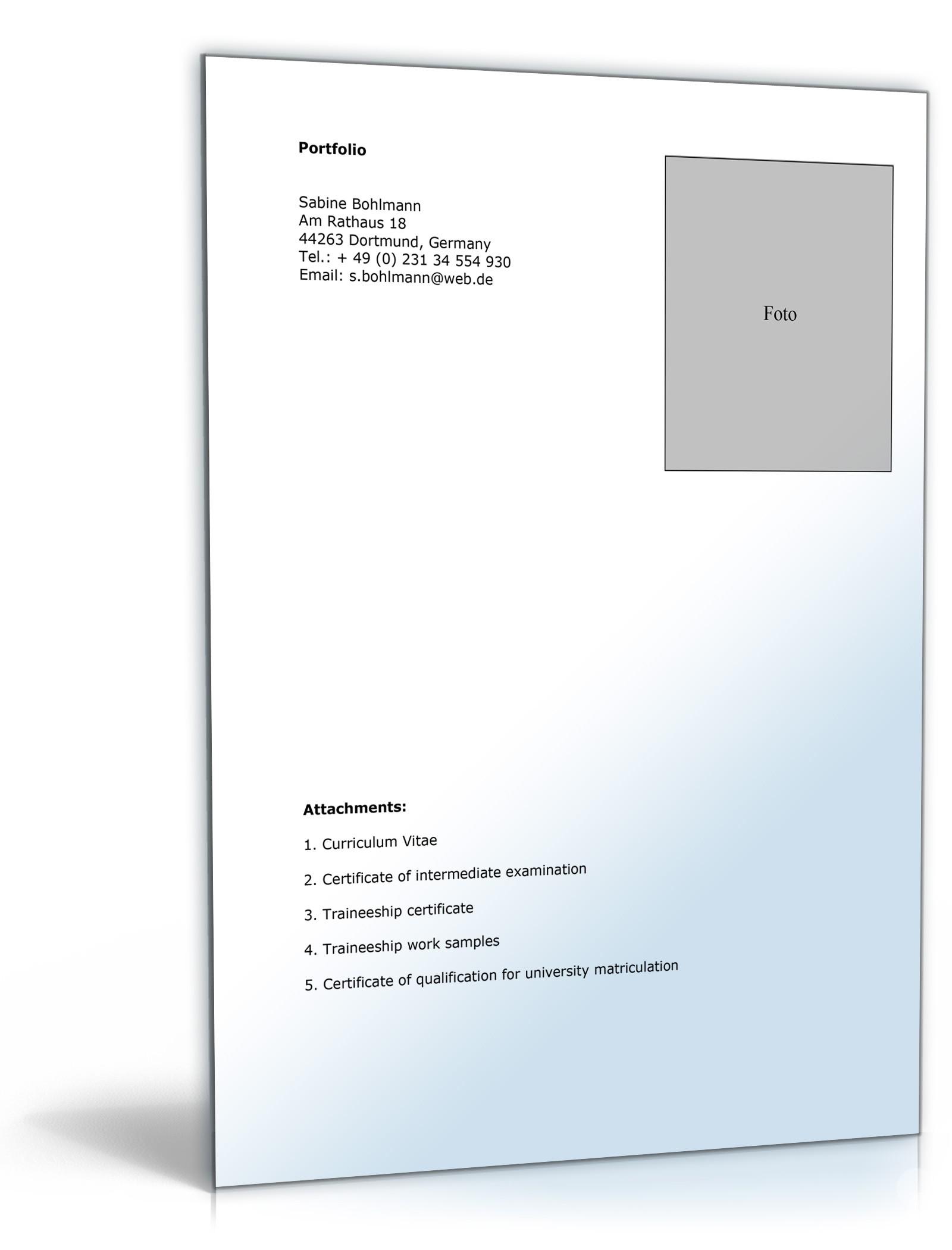 Lebenslauf Praktikum Medienbereich Englisch | Muster zum Download