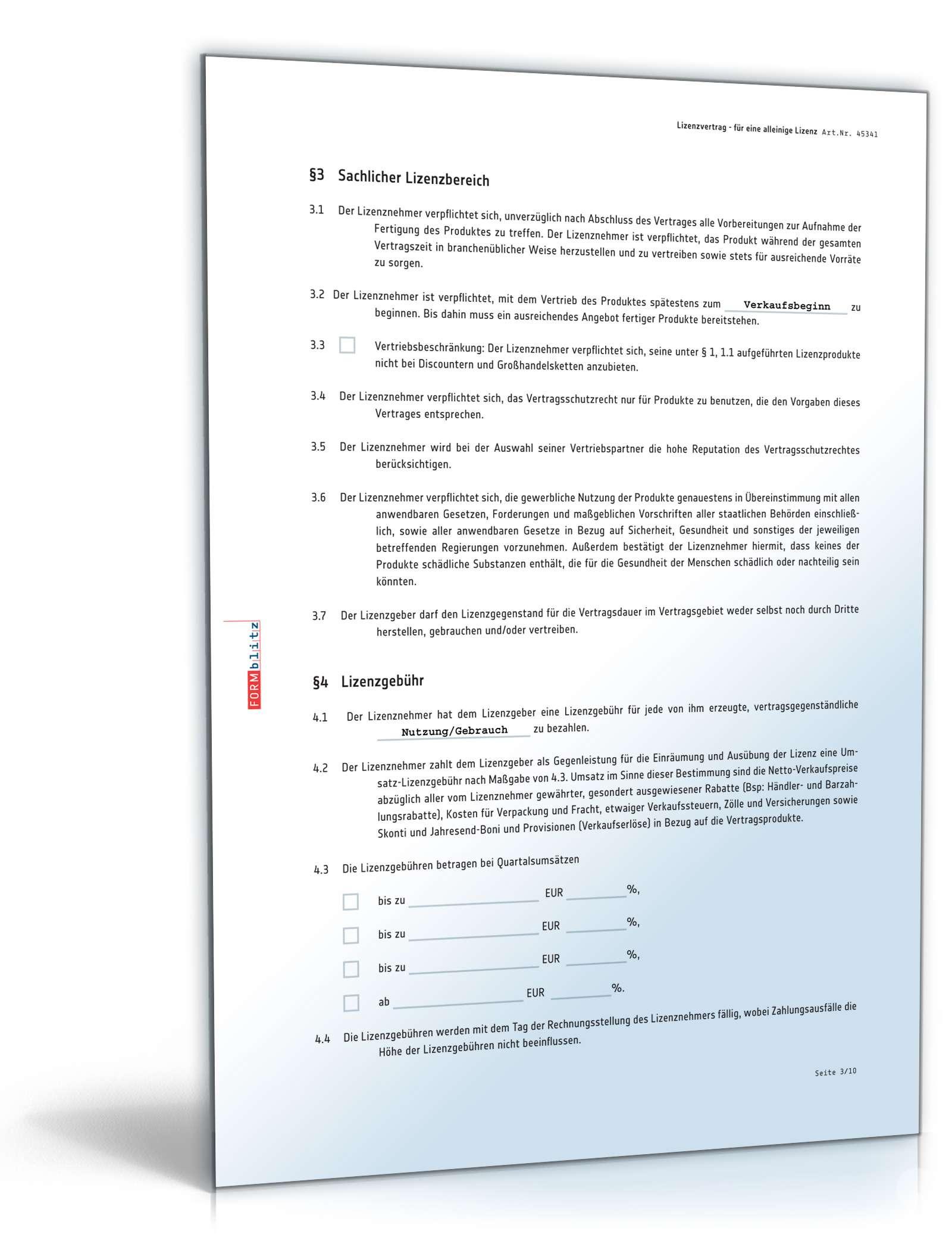 pdf seite 3 - Lizenzvertrag Muster