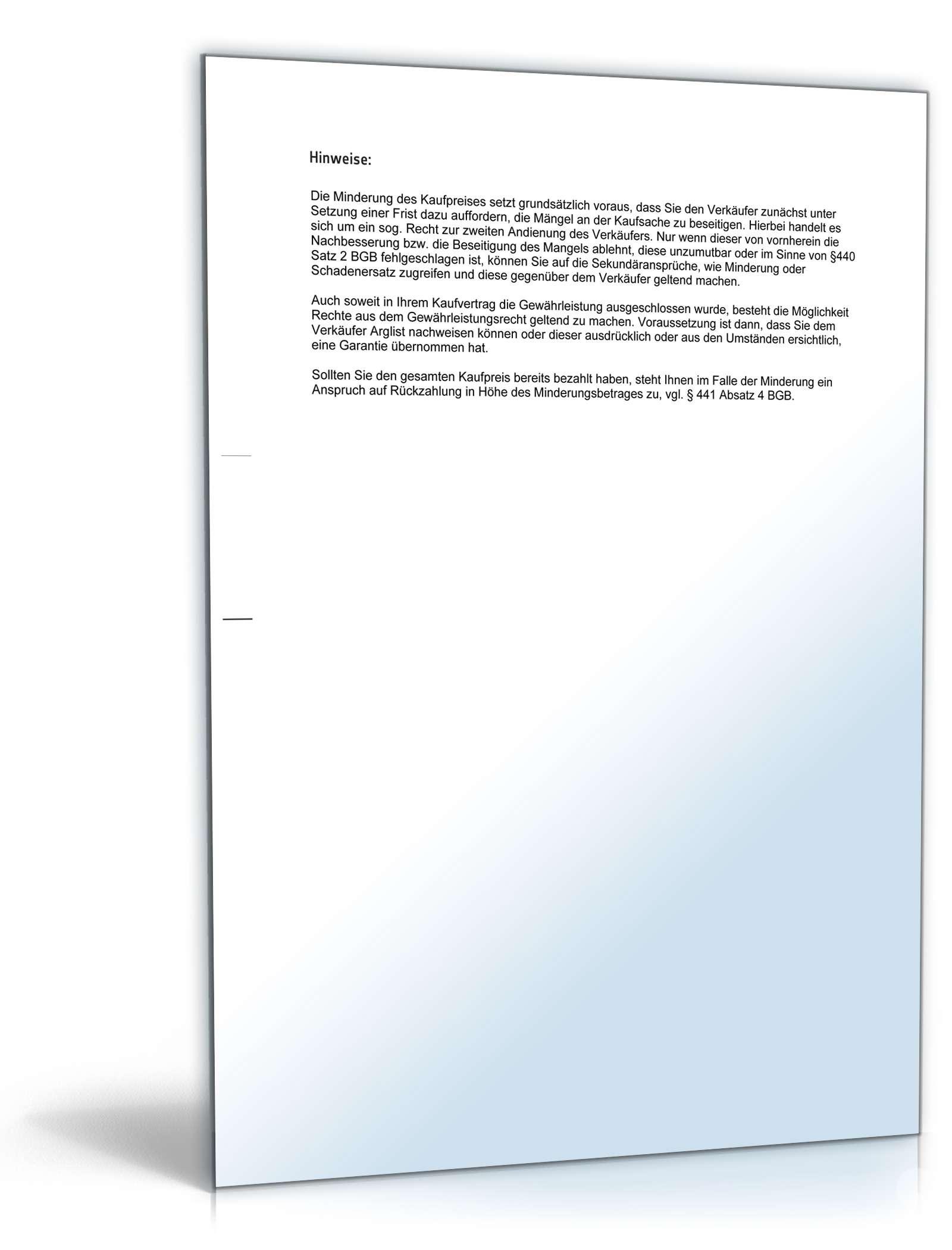 pdf seite 3 - Mangelanzeige Muster