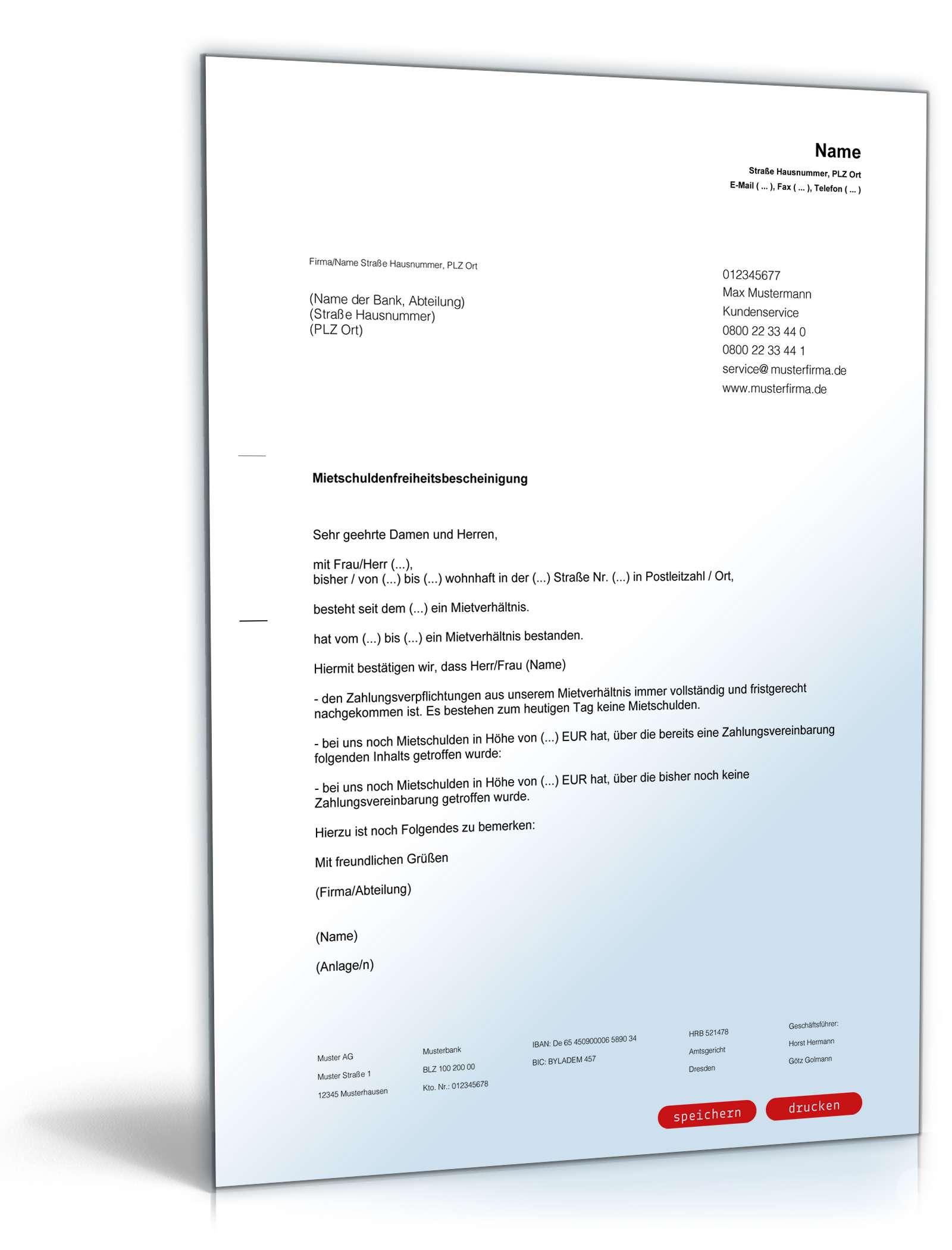 Musterbrief Paket Für Vermieter Vorlagen Zum Download