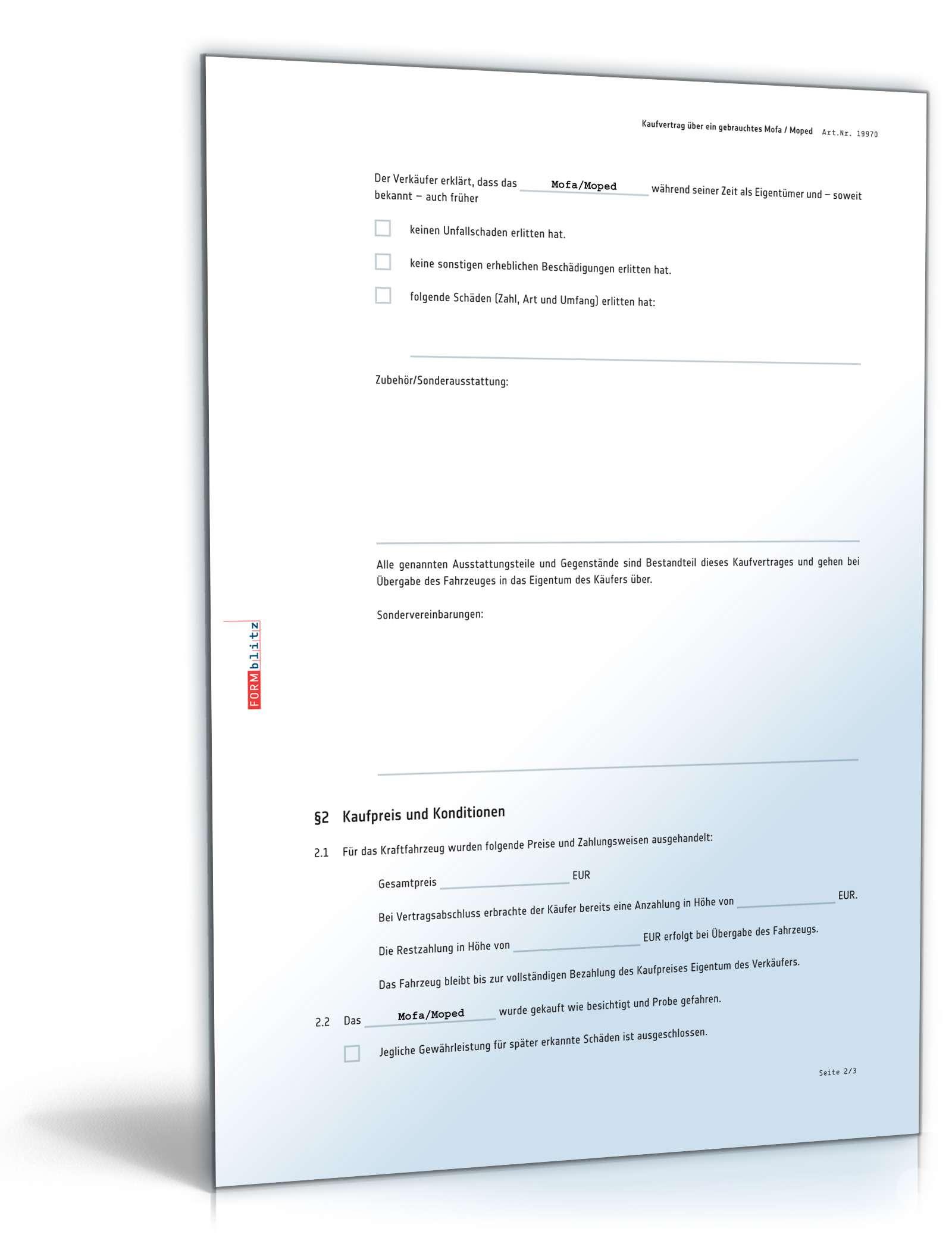 pdf seite 2 - Kaufvertrag Motorrad Muster