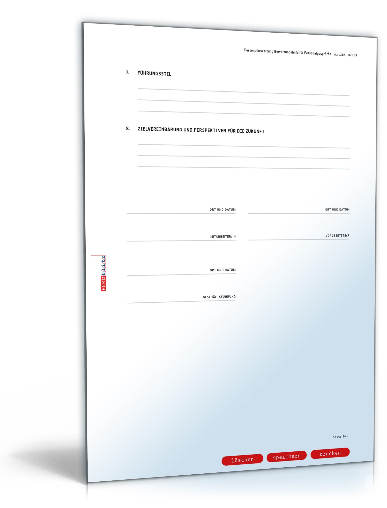 Mitarbeiterbeurteilung | Vorlage zum Download