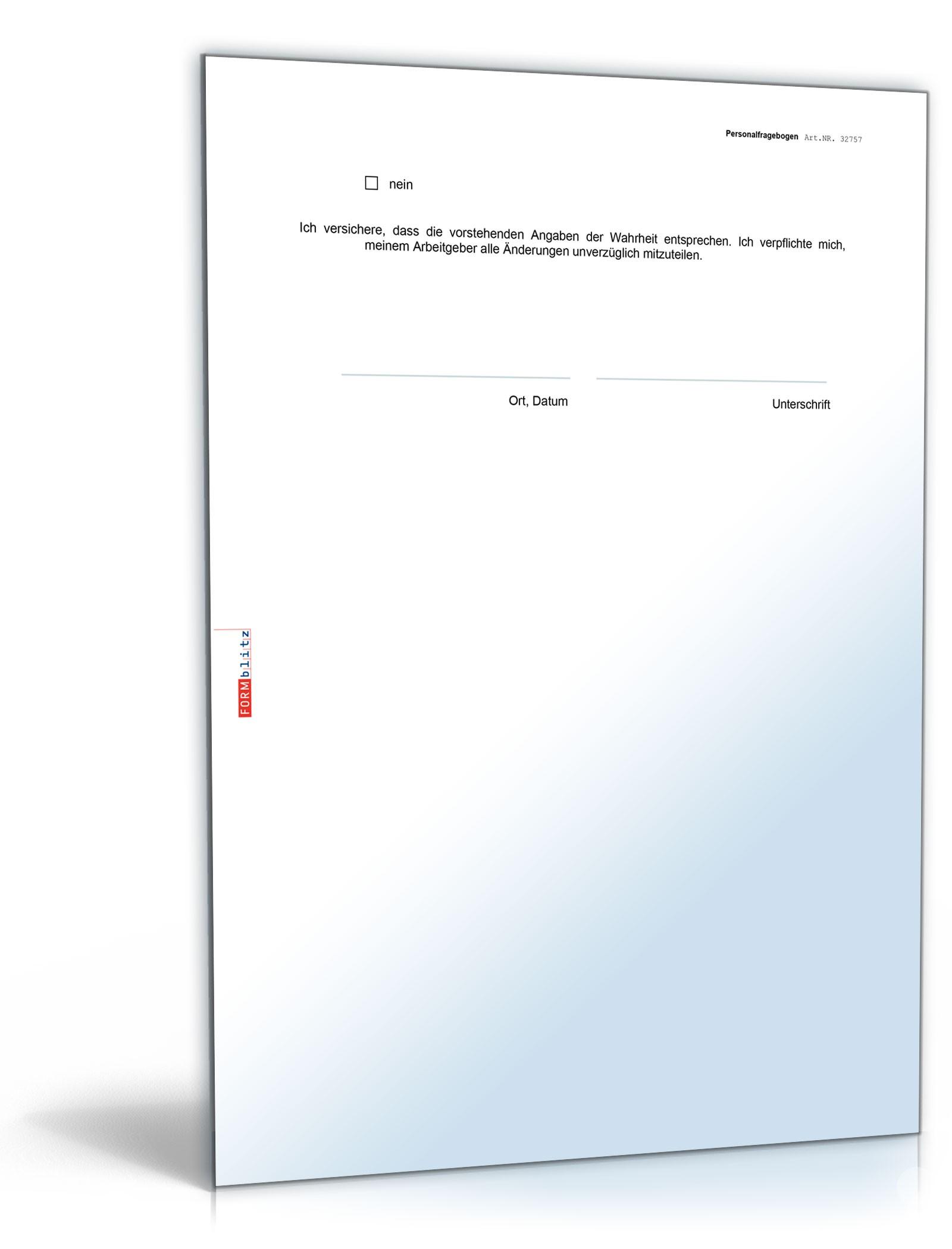doc seite 4 - Personalfragebogen Muster