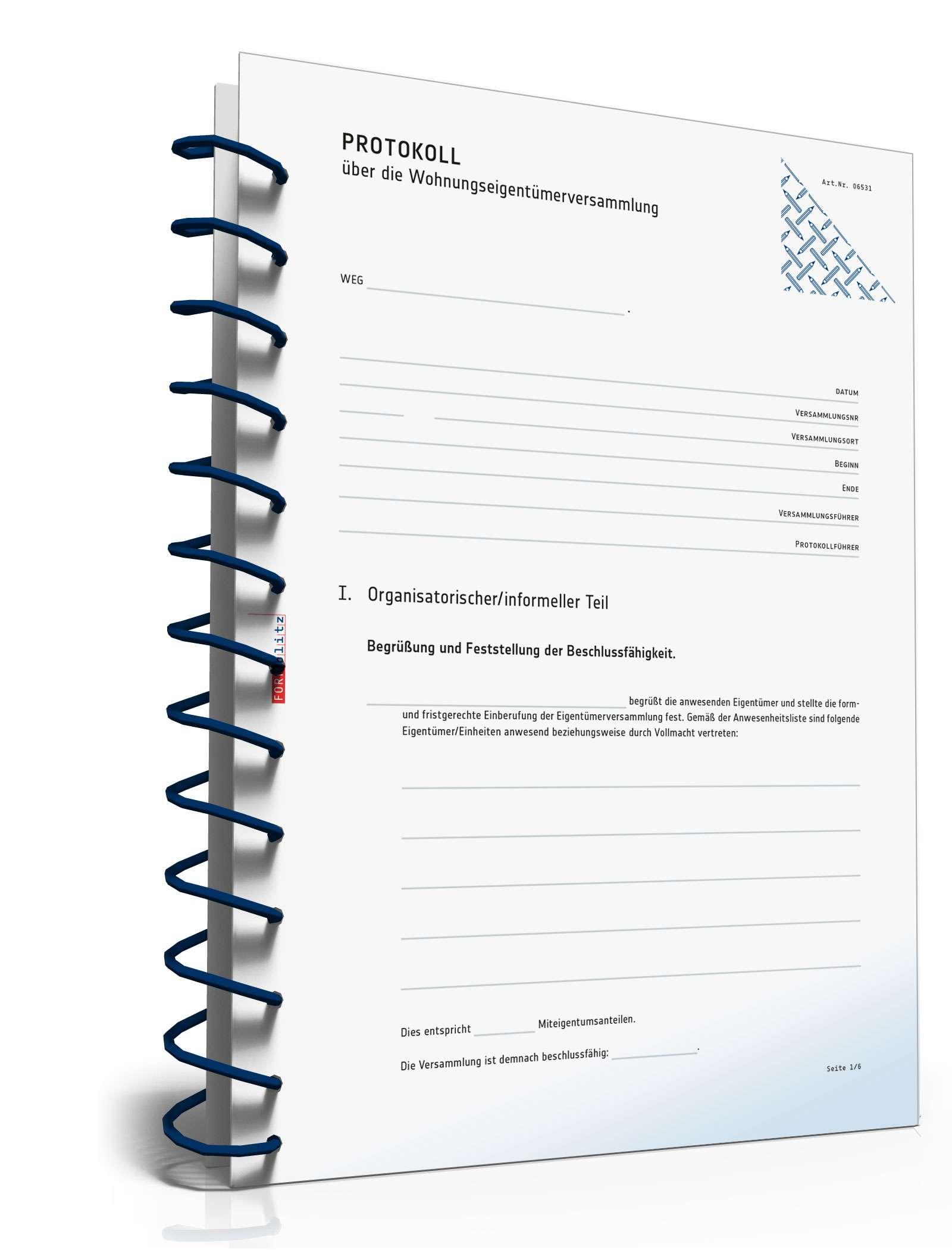 protokoll wohnungseigentmerversammlung - Protokoll Eigentumerversammlung Muster