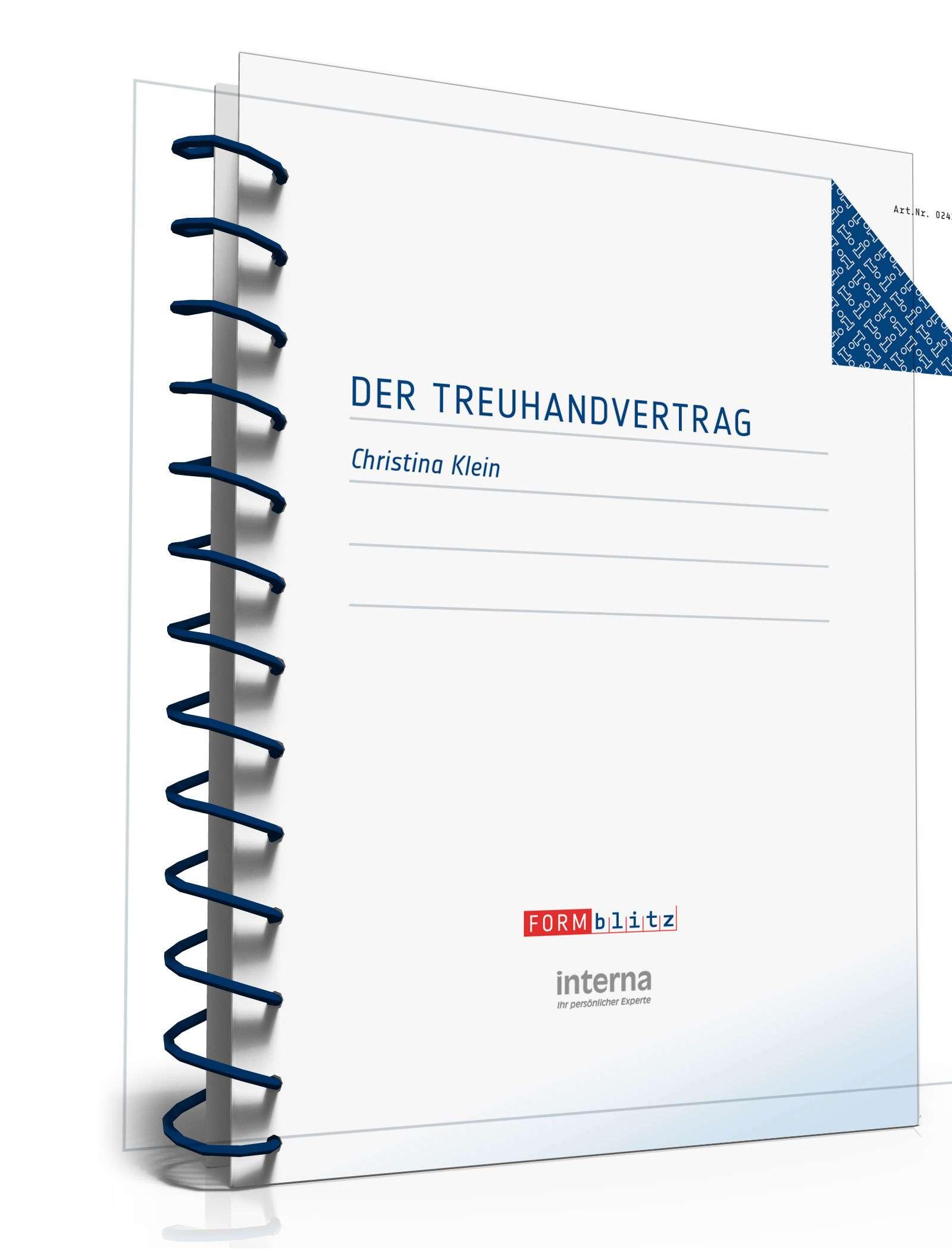 Treuhandvertrag Ratgeber Und Mustervertrag Zum Download