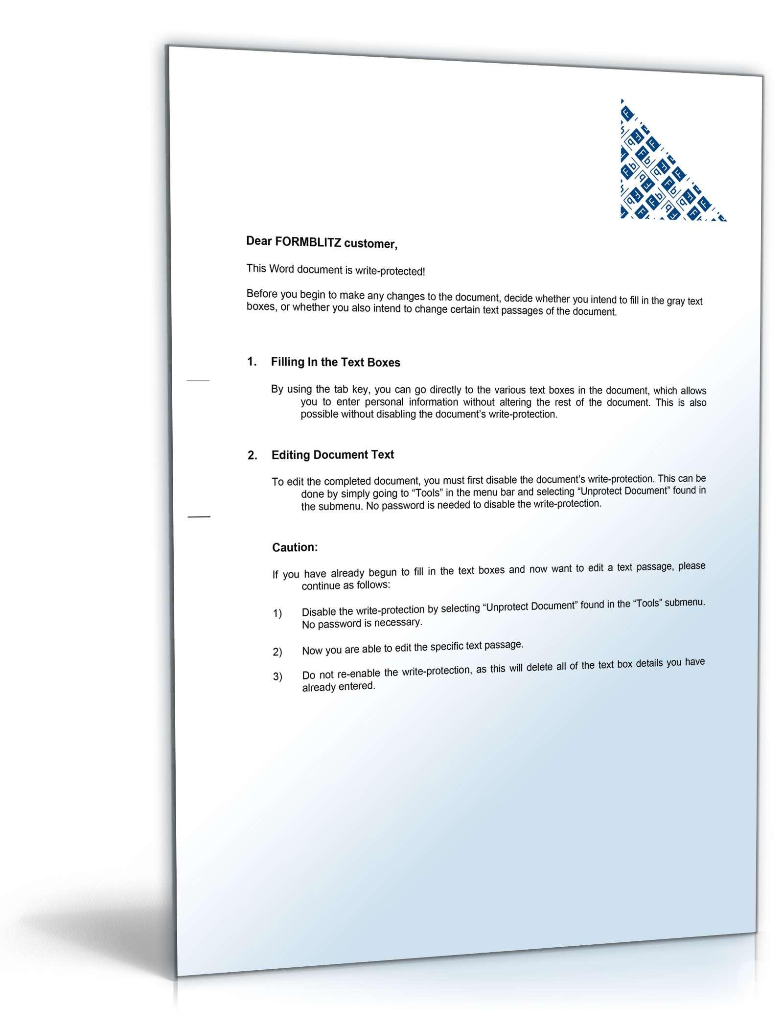Angebotsanfrage Englisch Mustervorlage Zum Download