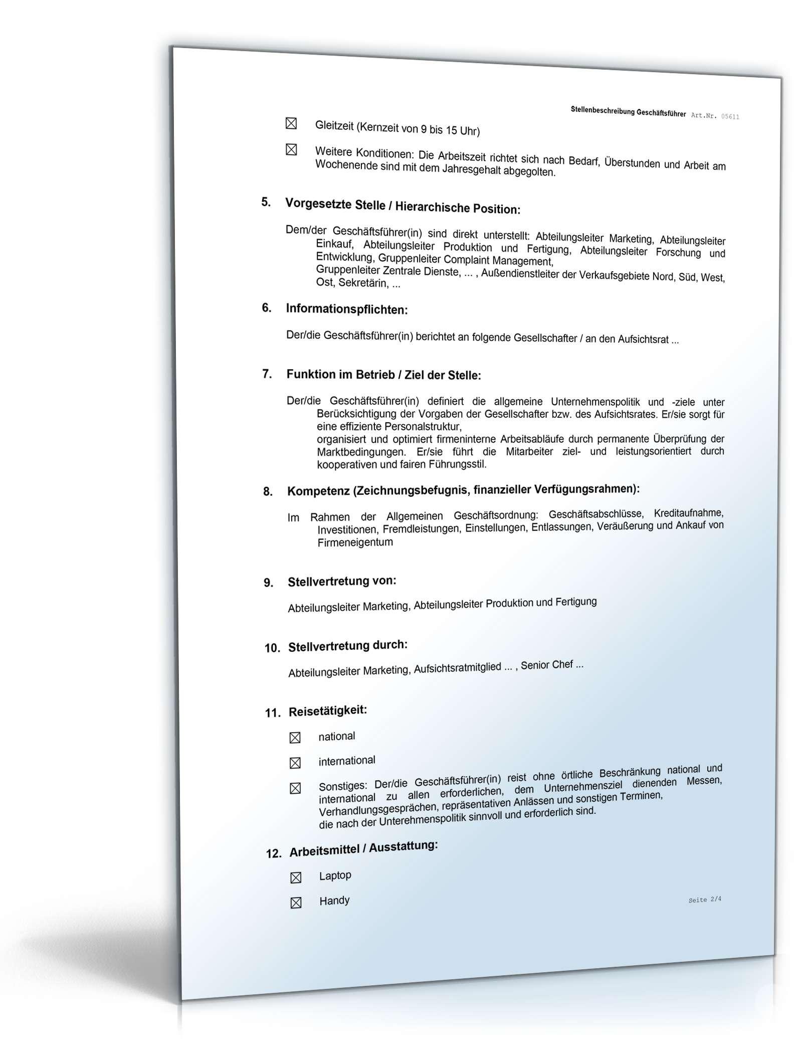 doc seite 3 - Muster Stellenbeschreibung