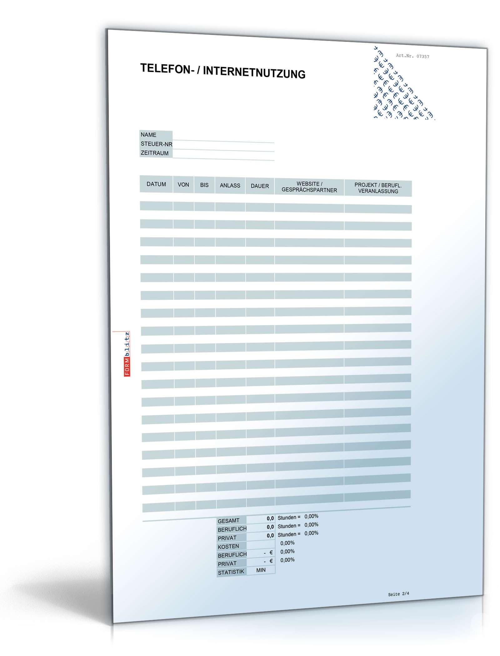 Internetkosten Steuererklärung