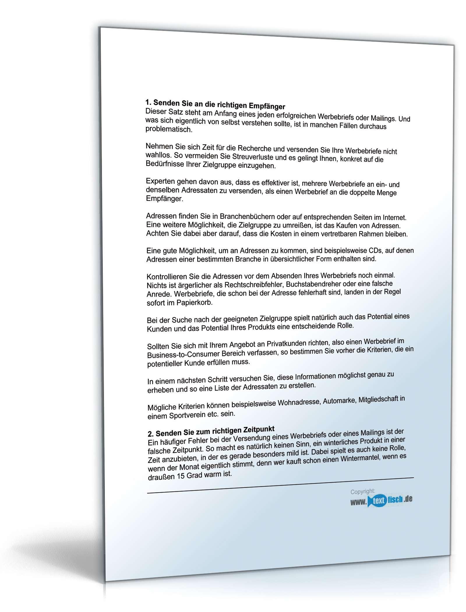 Begleitbrief Werbebrief Schlüsseldienst Muster Zum Download
