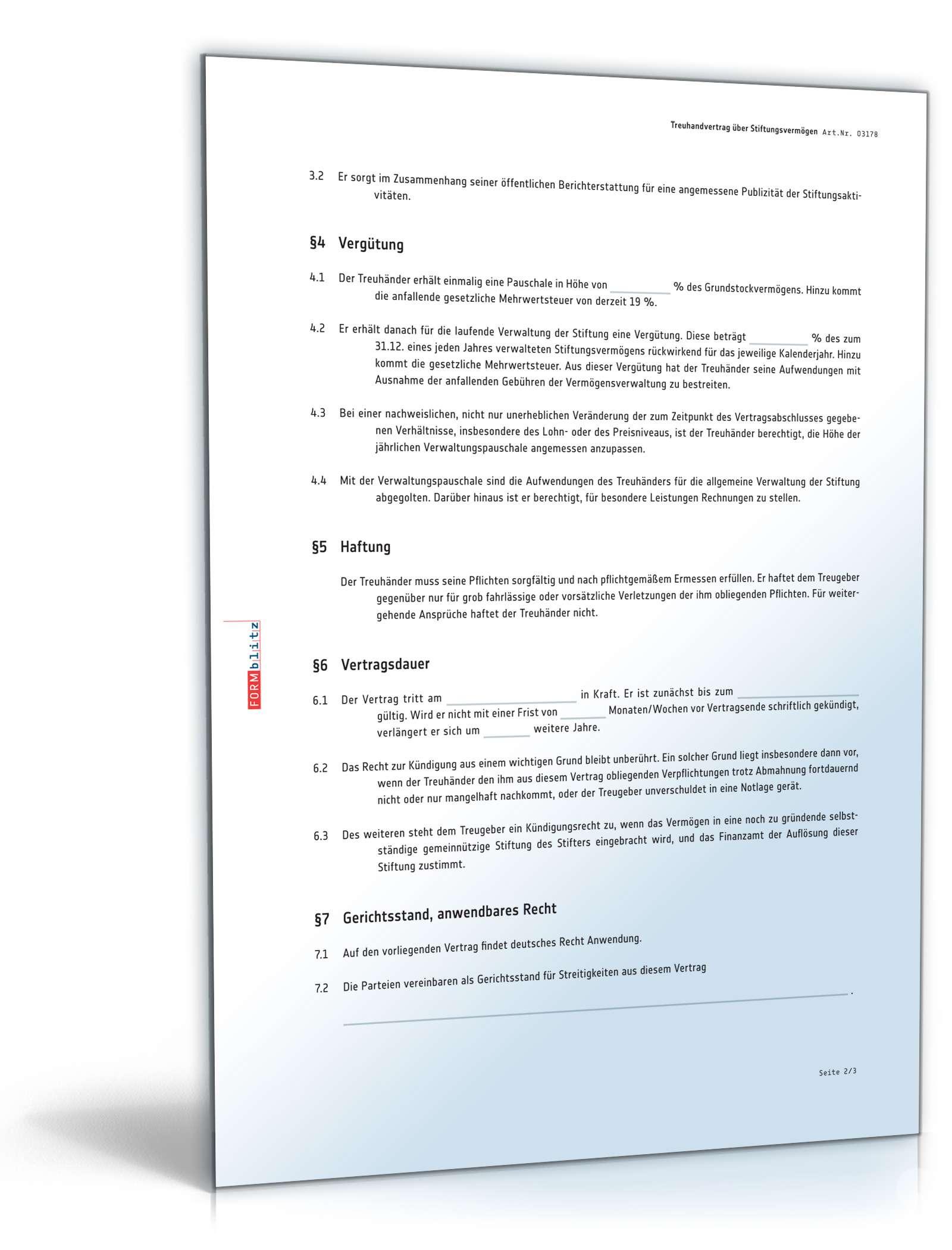 pdf seite 2 - Treuhandvertrag Muster