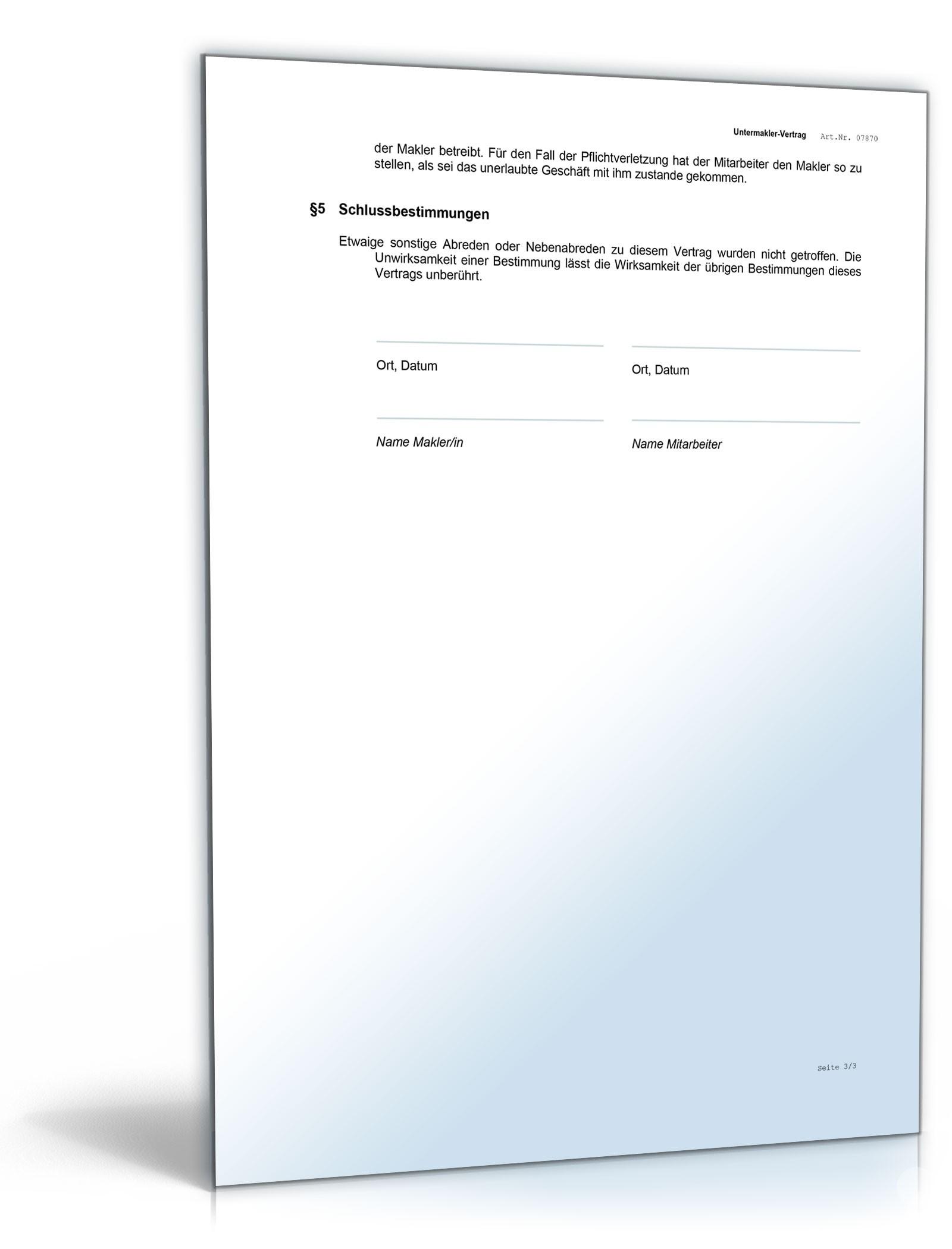 Großzügig Vertrag Mitarbeitervereinbarung Bilder - FORTSETZUNG ...